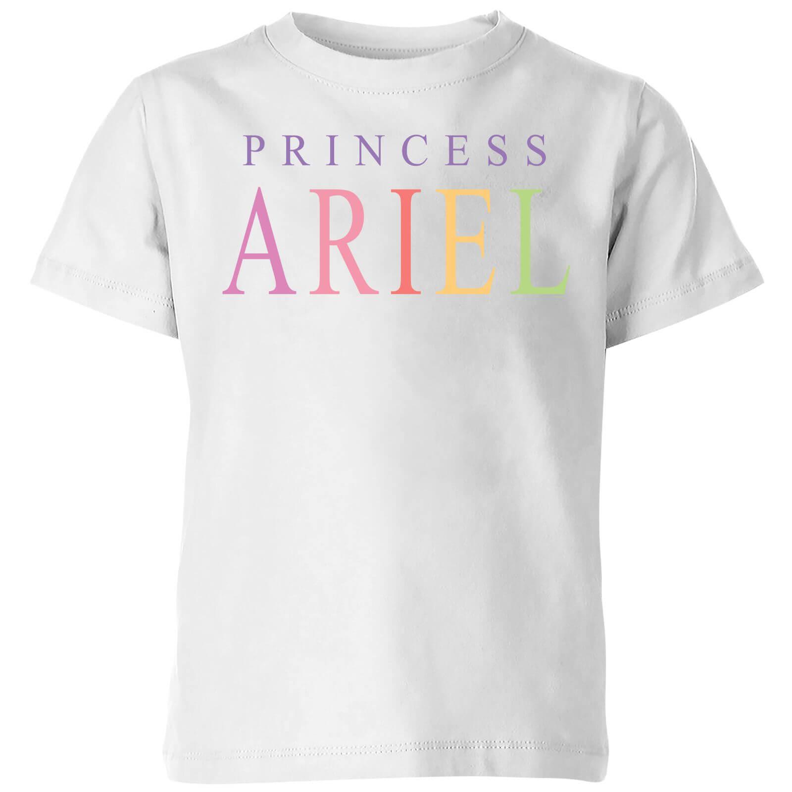 disney the little mermaid princess ariel kids' t-shirt - white - 3-4 years - white