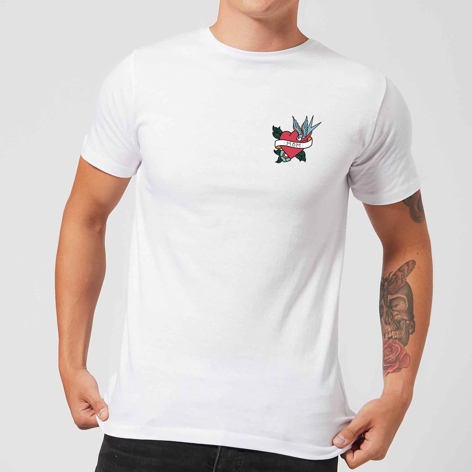 Mom Heart Men's T-Shirt - White - S - White