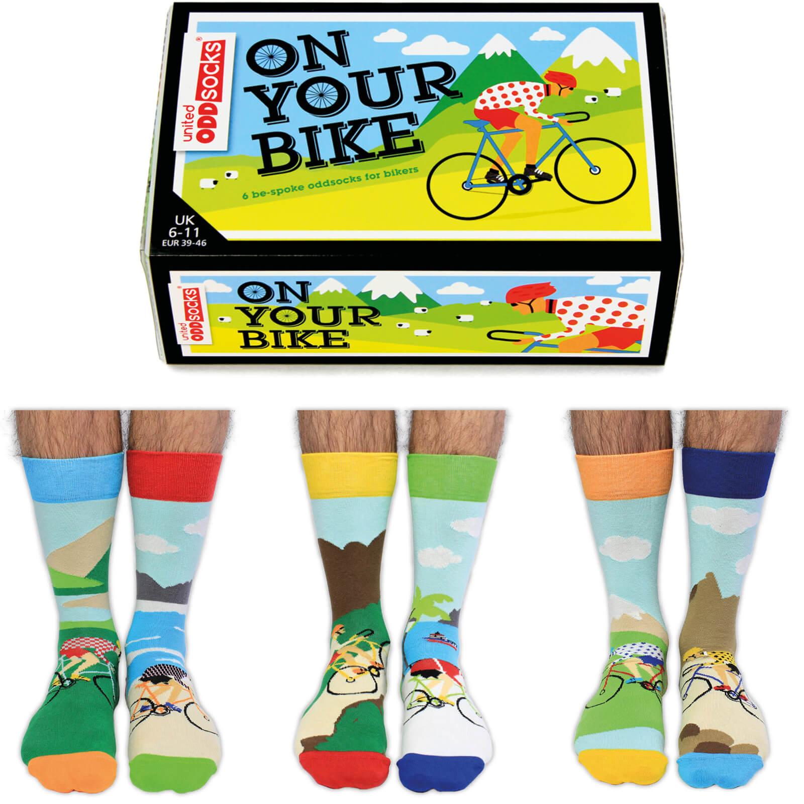 United Oddsocks Mens On Your Bike Socks Gift Set (UK 6 11)