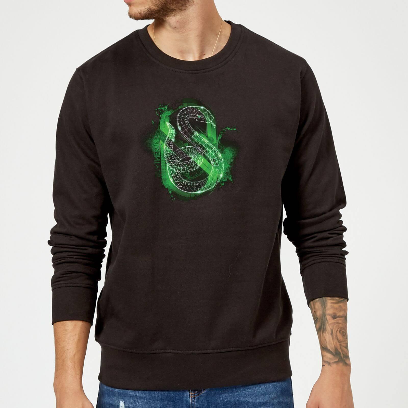 Harry Potter Slytherin Geometric Sweatshirt - Black - XXL - Black