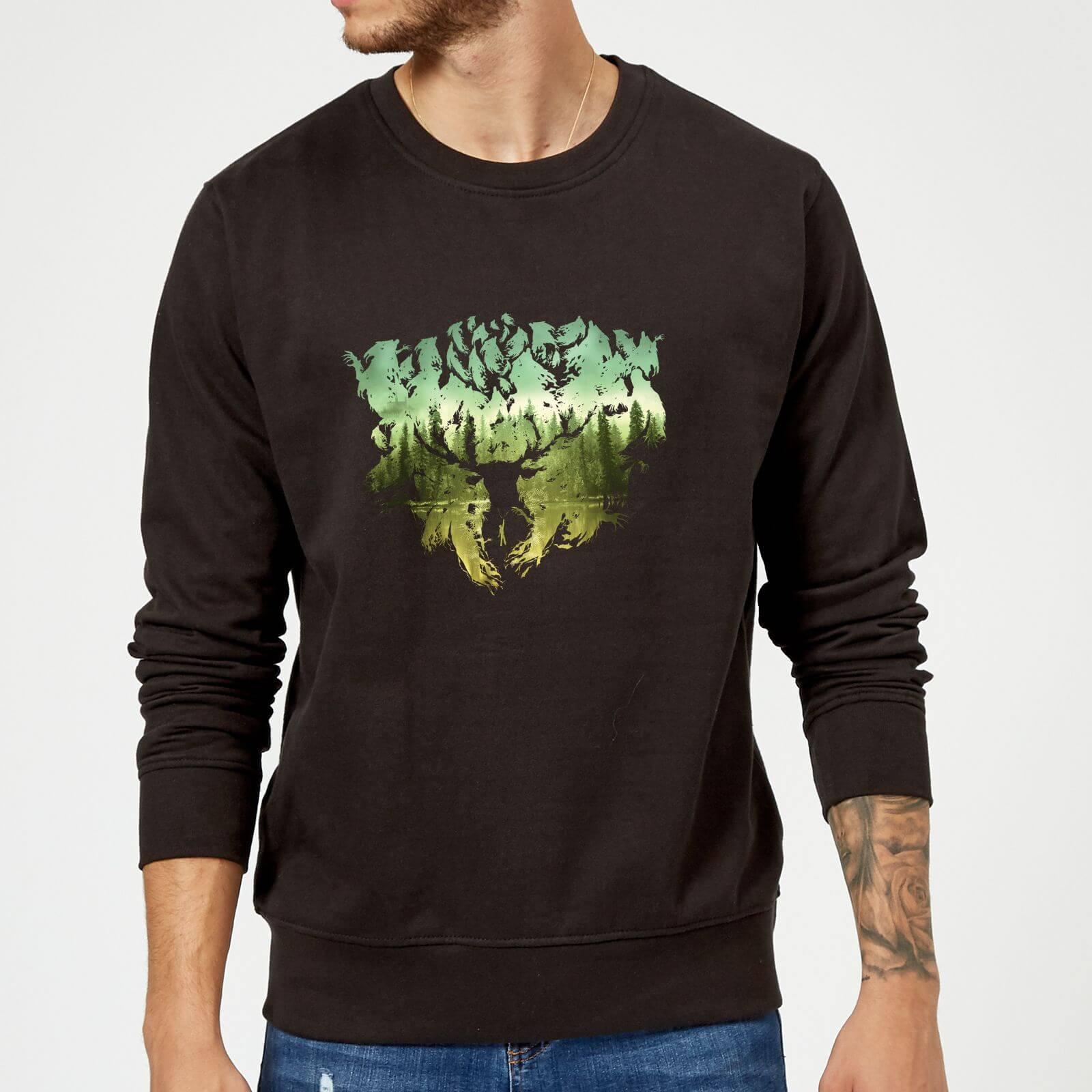 Harry Potter Patronus Lake Sweatshirt - Black - XL - Black