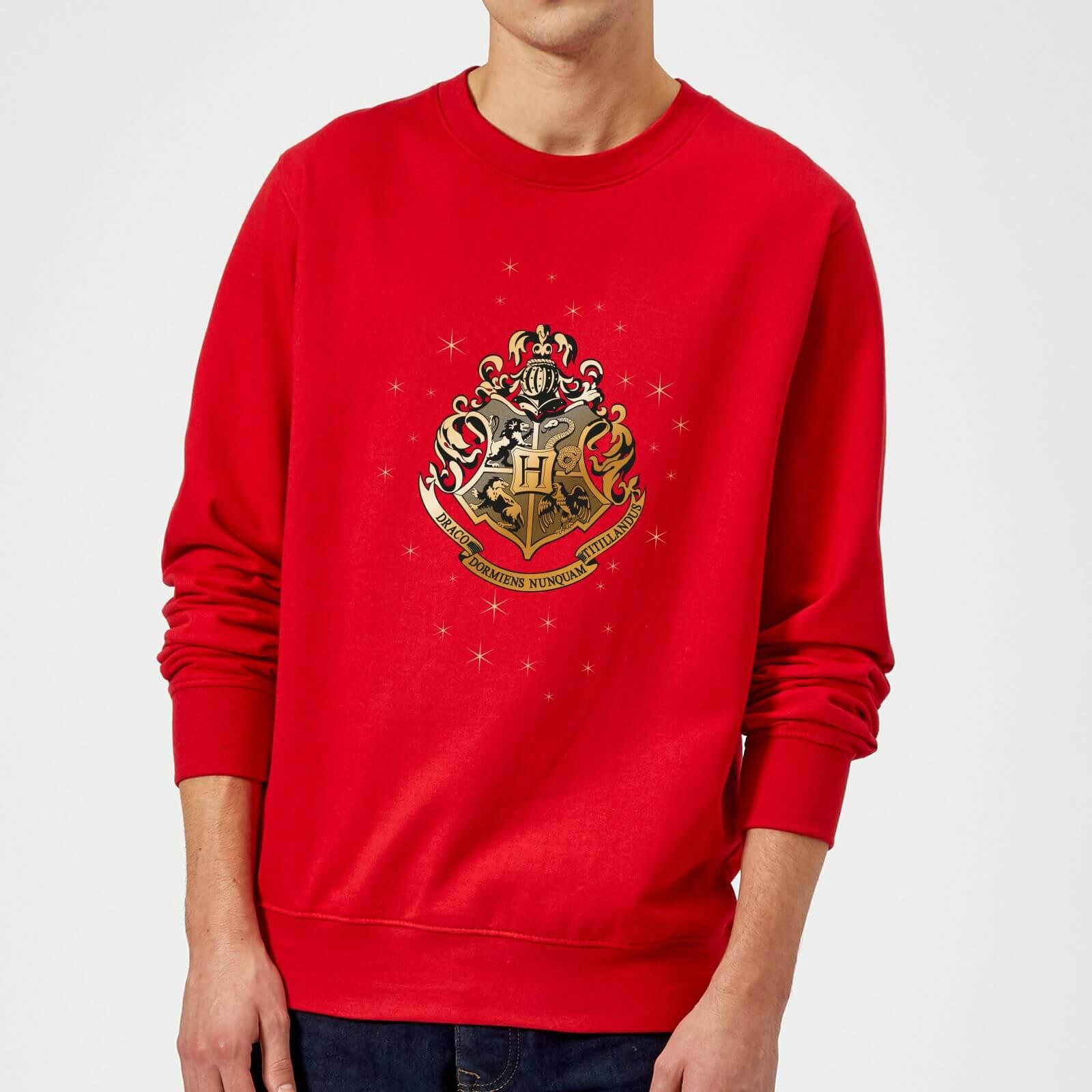 Harry Potter Star Hogwarts Gold Crest Sweatshirt - Red - S - Red
