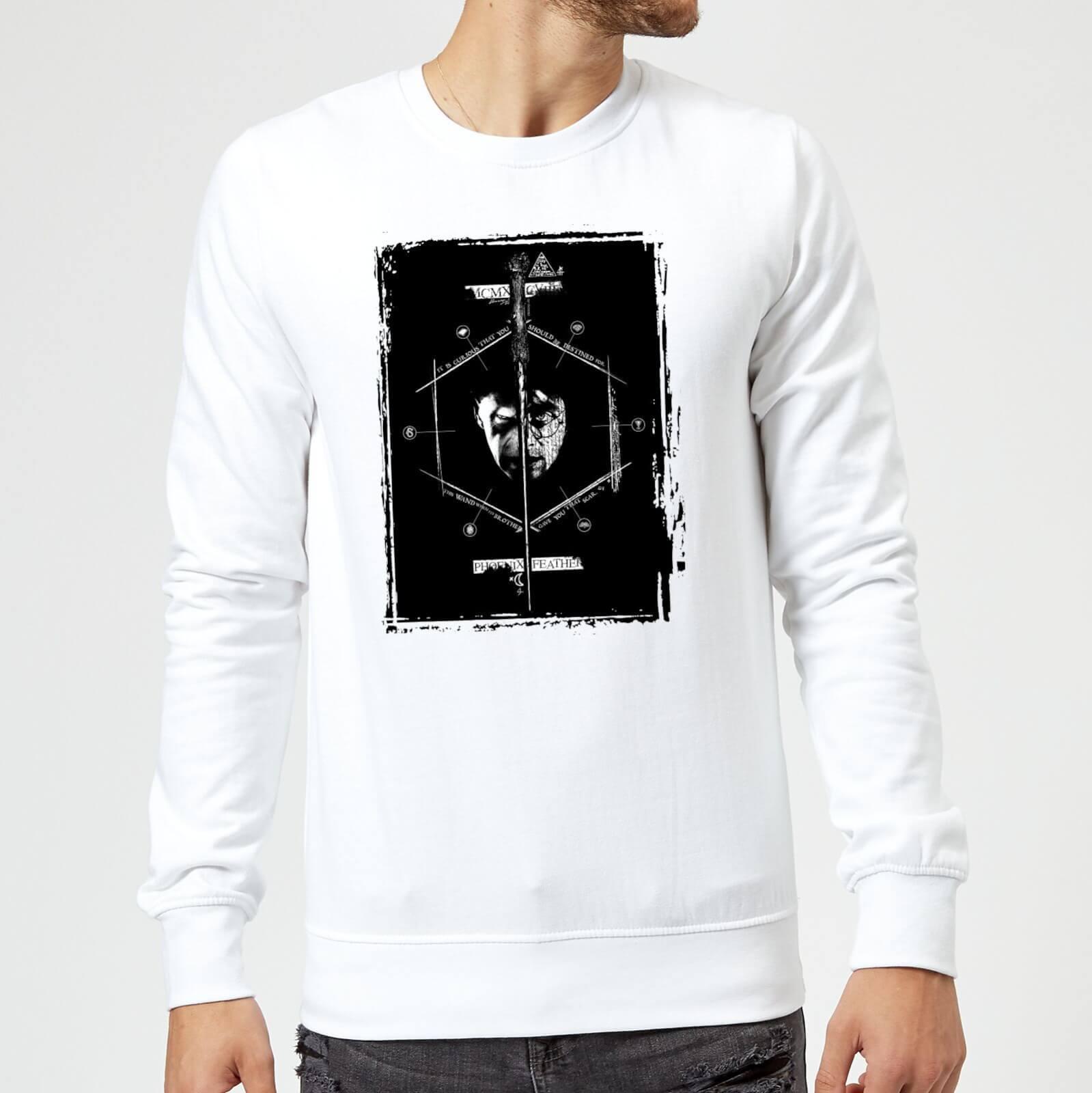 Harry Potter Harry Voldemort Wand Sweatshirt - White - M - White