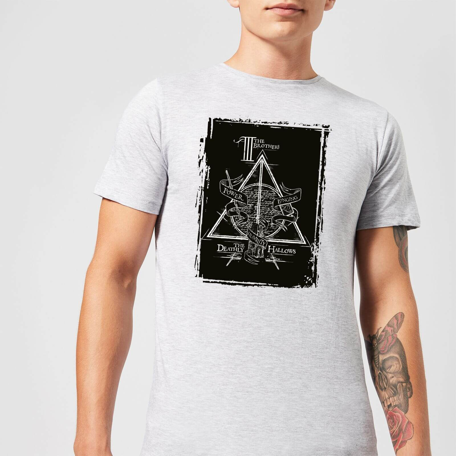 Harry Potter Three Brothers Men's T-Shirt - Grey - 5XL - Grey