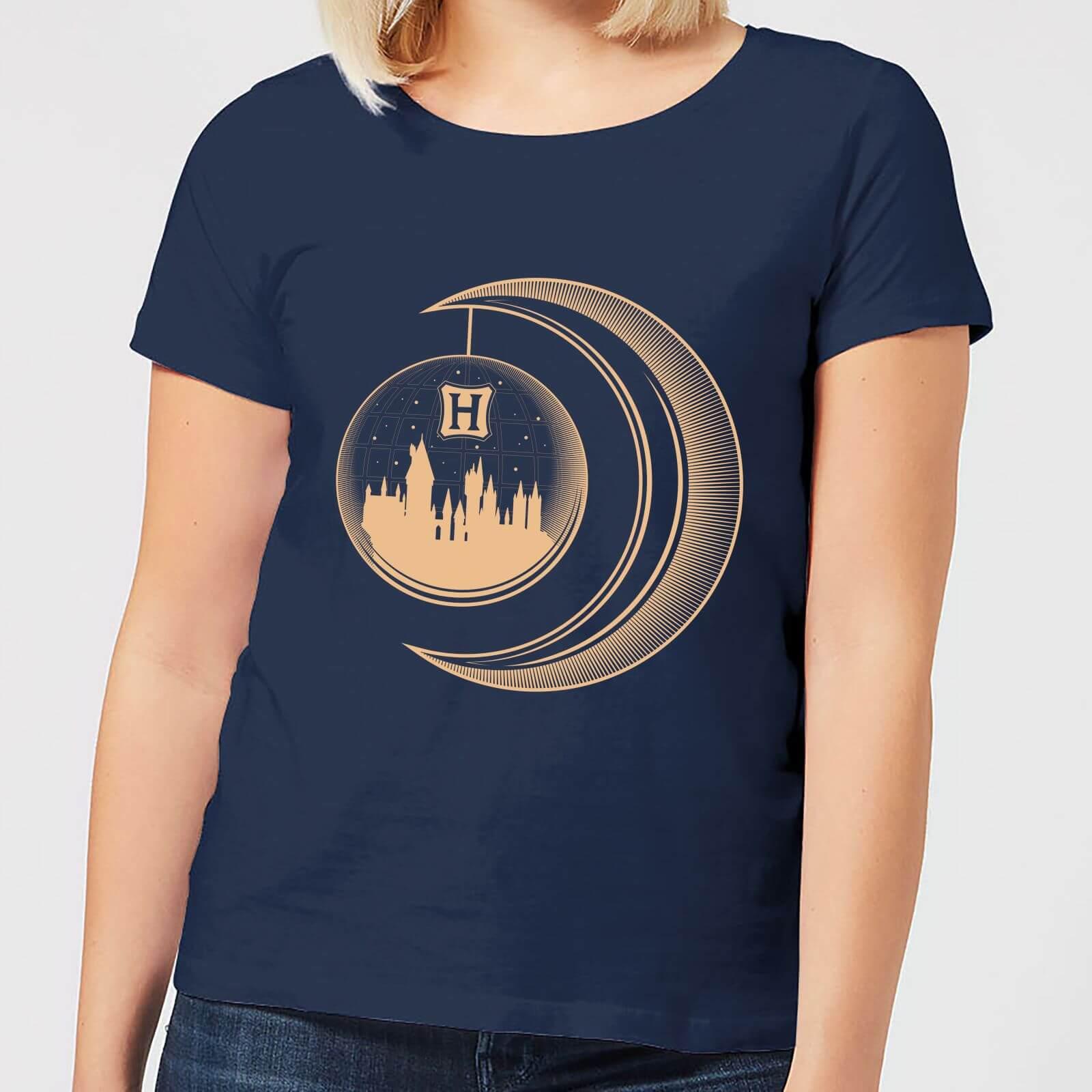 Image of T-Shirt Harry Potter Globe Moon - Navy - Donna - S - Blu Navy