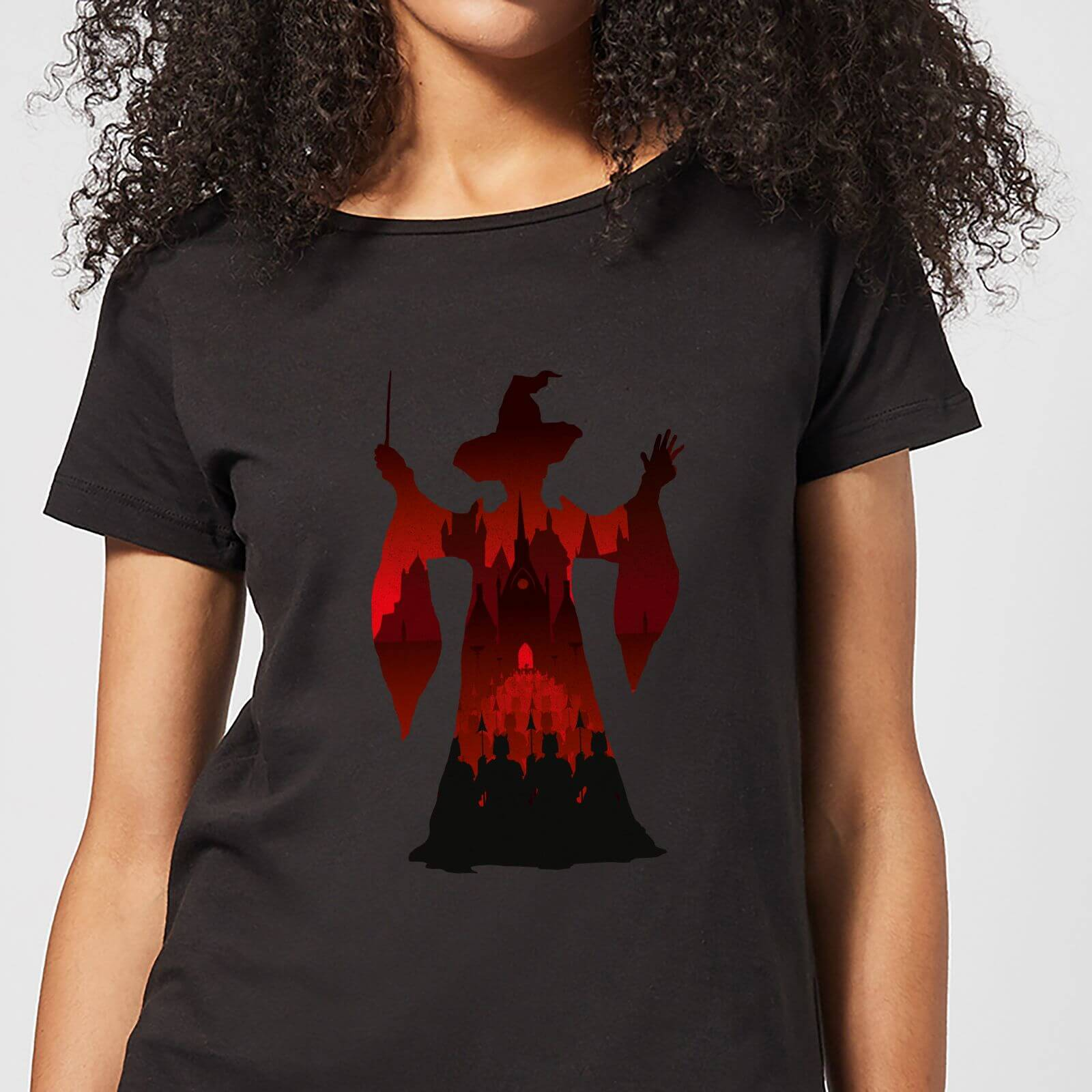 Harry Potter McGonagall Silhouette Women's T-Shirt - Black - XXL - Black