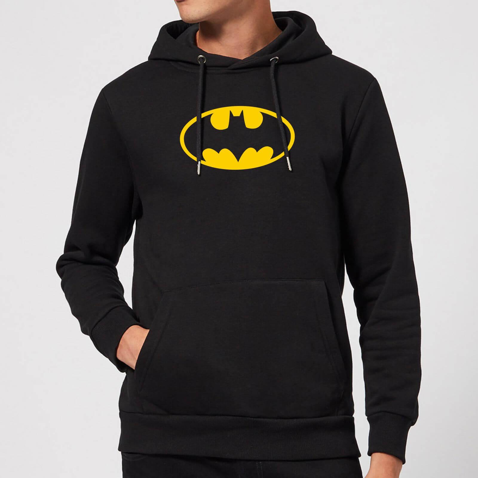 Justice League Batman Logo Hoodie   Black   L   Black
