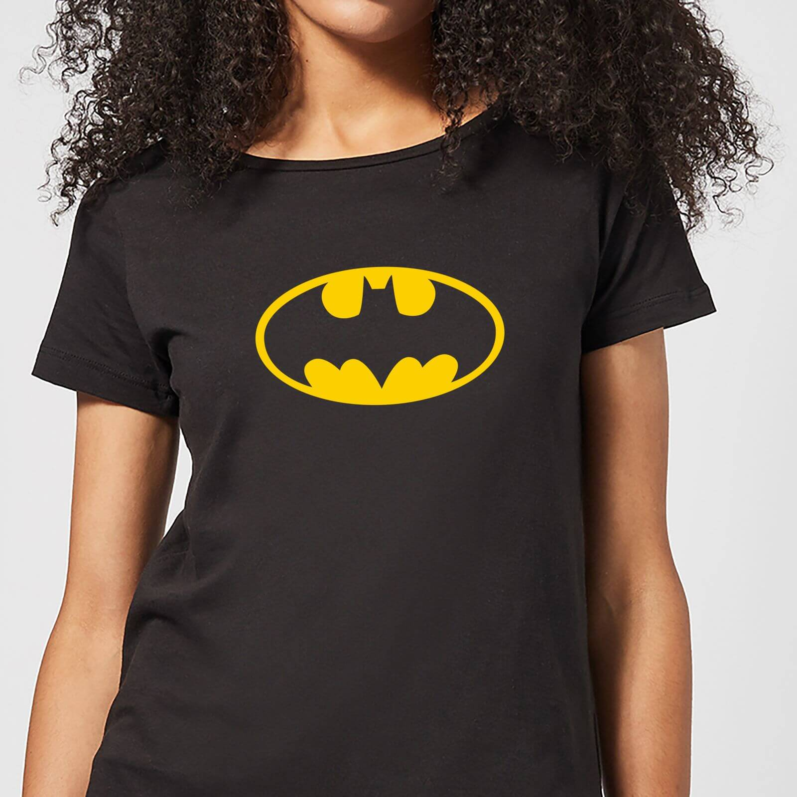 Justice League Batman Logo Womens T Shirt   Black   M   Black