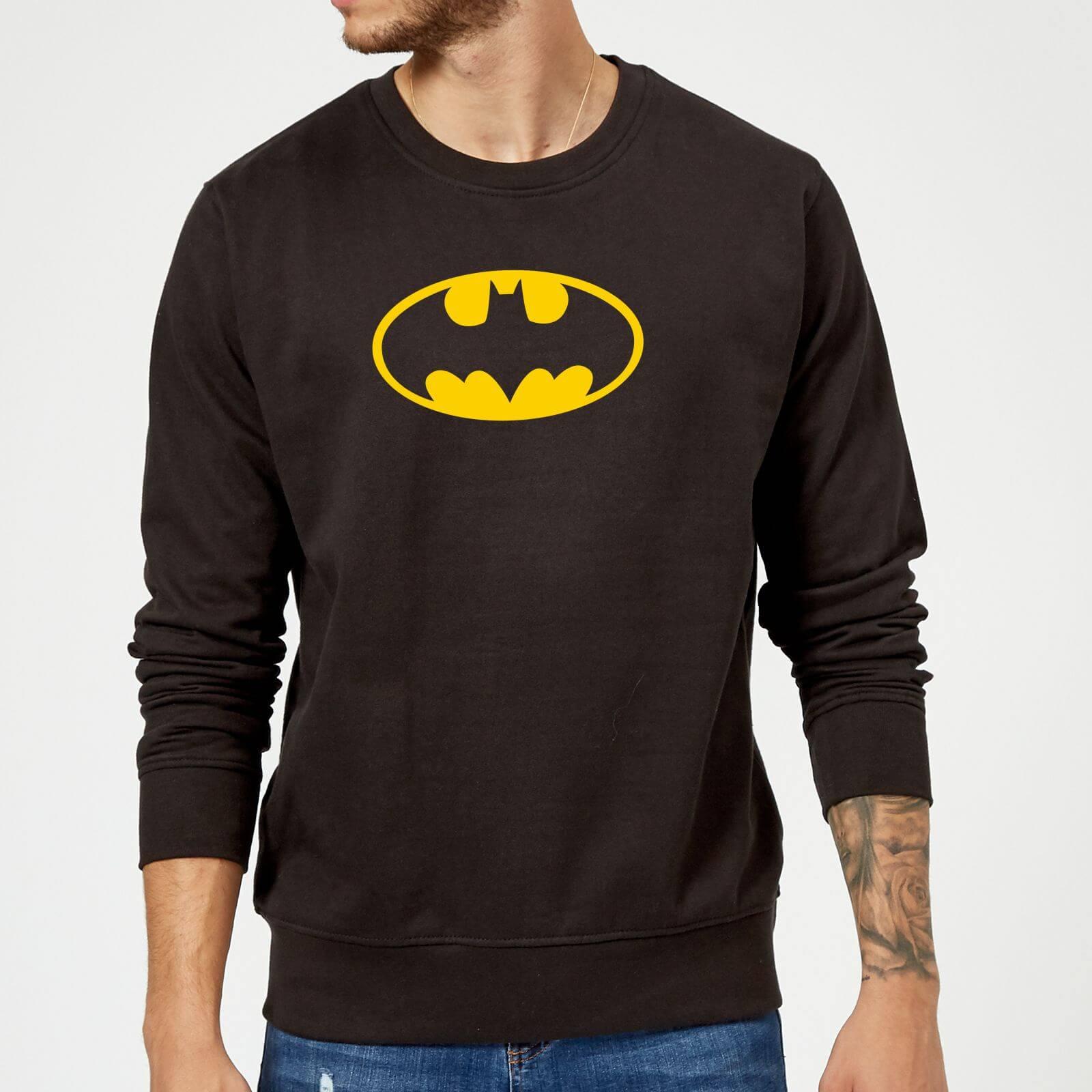 Justice League Batman Logo Sweatshirt   Black   5XL   Black