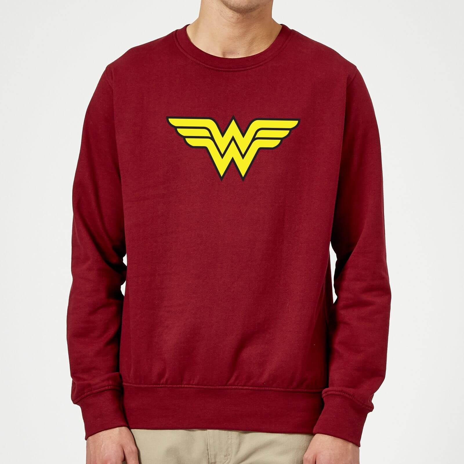 Justice League Wonder Woman Logo Sweatshirt - Burgundy - L - Burgundy