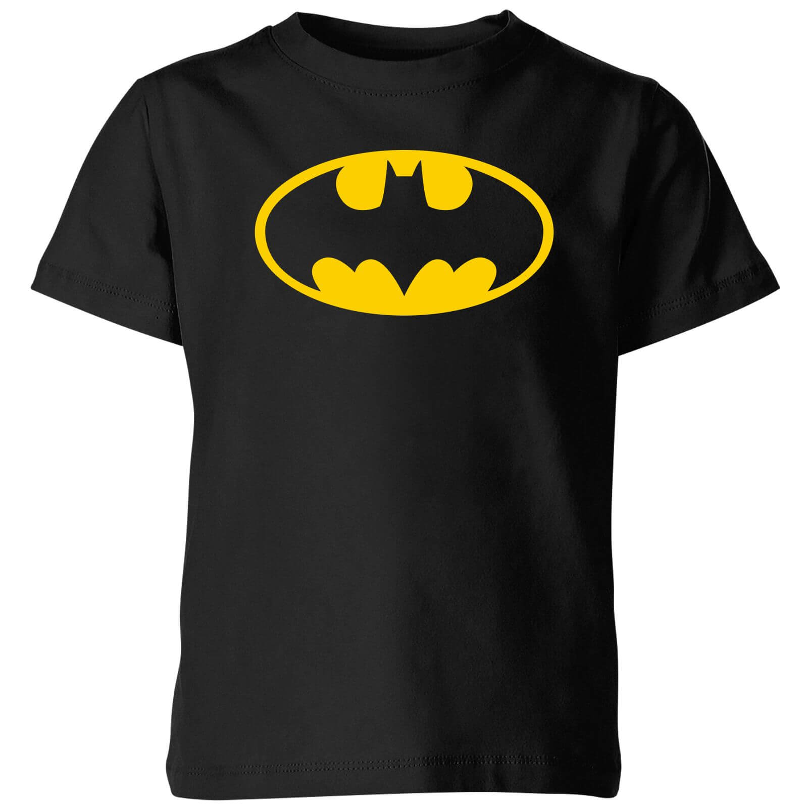 Justice League Batman Logo Kids T Shirt   Black   3 4 Years   Black