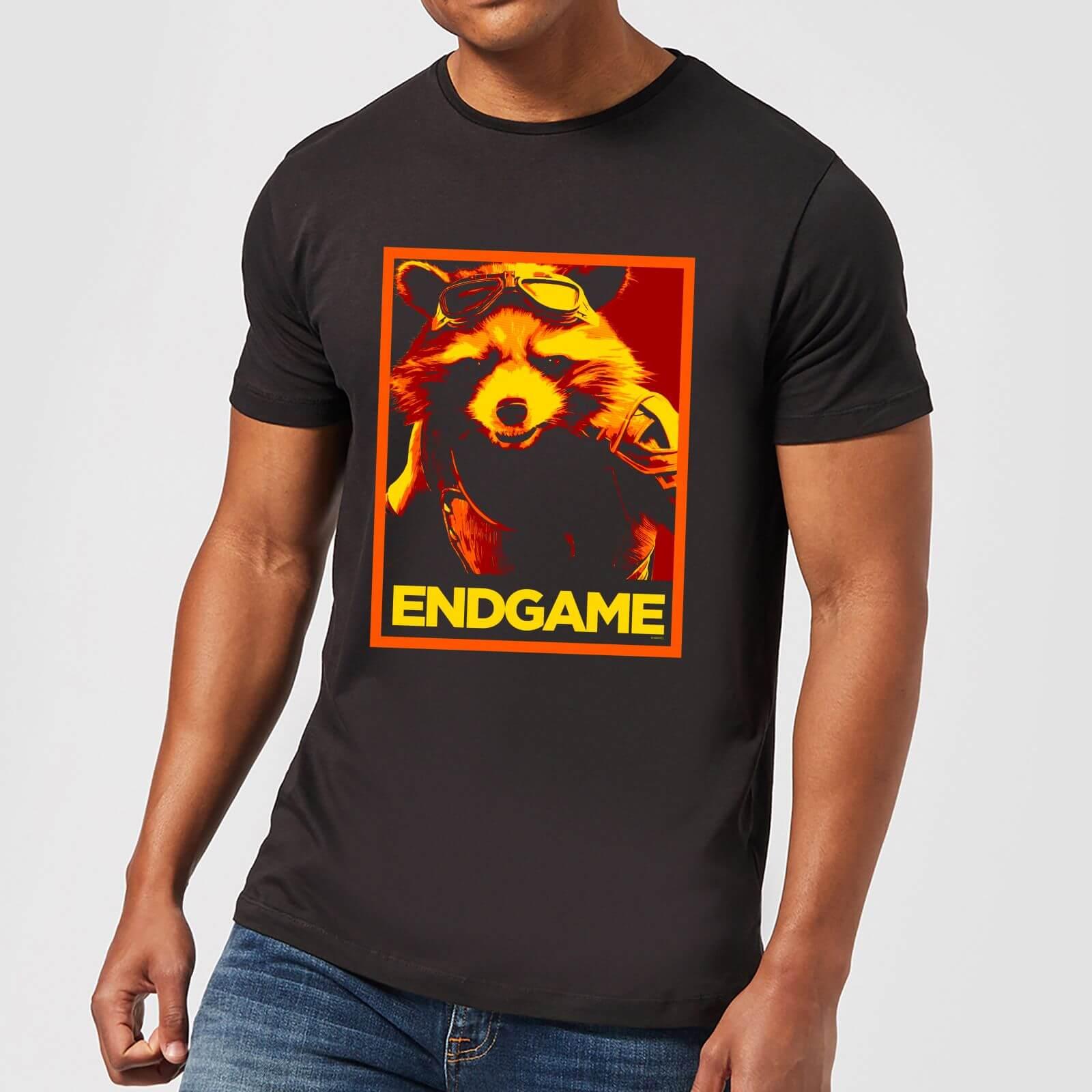 Marvel Avengers Endgame Rocket Poster Men's T-Shirt - Black - XXL - Black