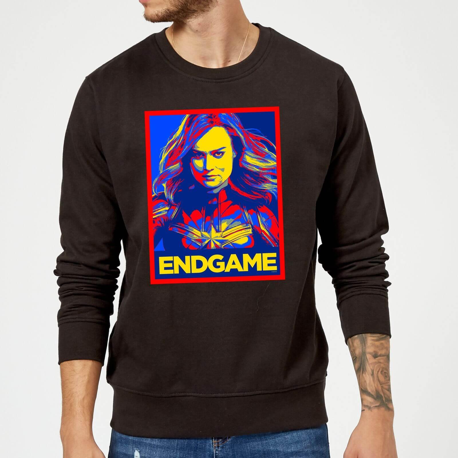 Marvel Avengers Endgame Captain Marvel Poster Sweatshirt - Black - S - Black