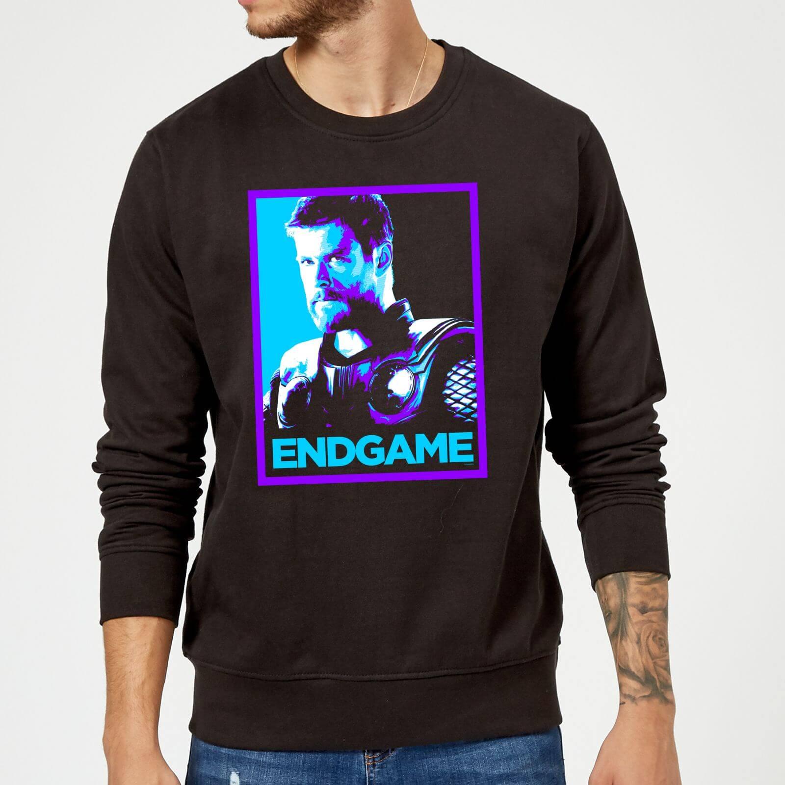 Marvel Avengers Endgame Thor Poster Sweatshirt - Black - XXL - Black