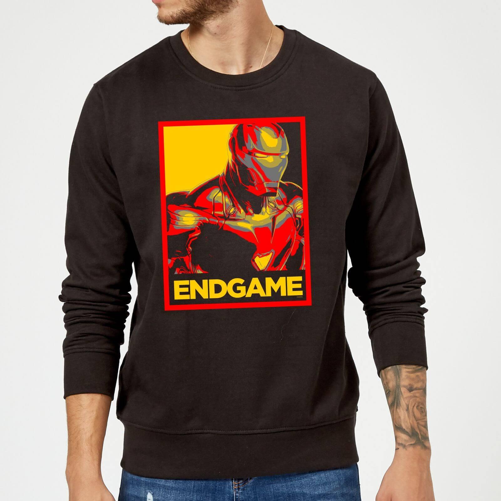 Marvel Avengers Endgame Iron Man Poster Sweatshirt - Black - XXL - Black