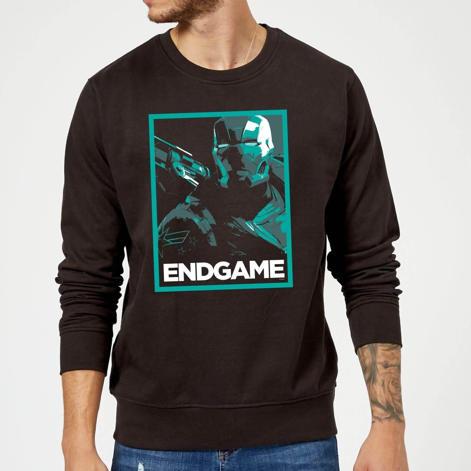 Marvel Avengers Endgame War Machine Poster Sweatshirt - Black - M - Black