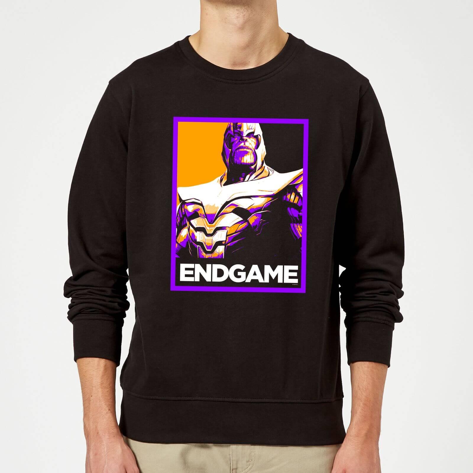 Marvel Avengers Endgame Thanos Poster Sweatshirt - Black - L - Black