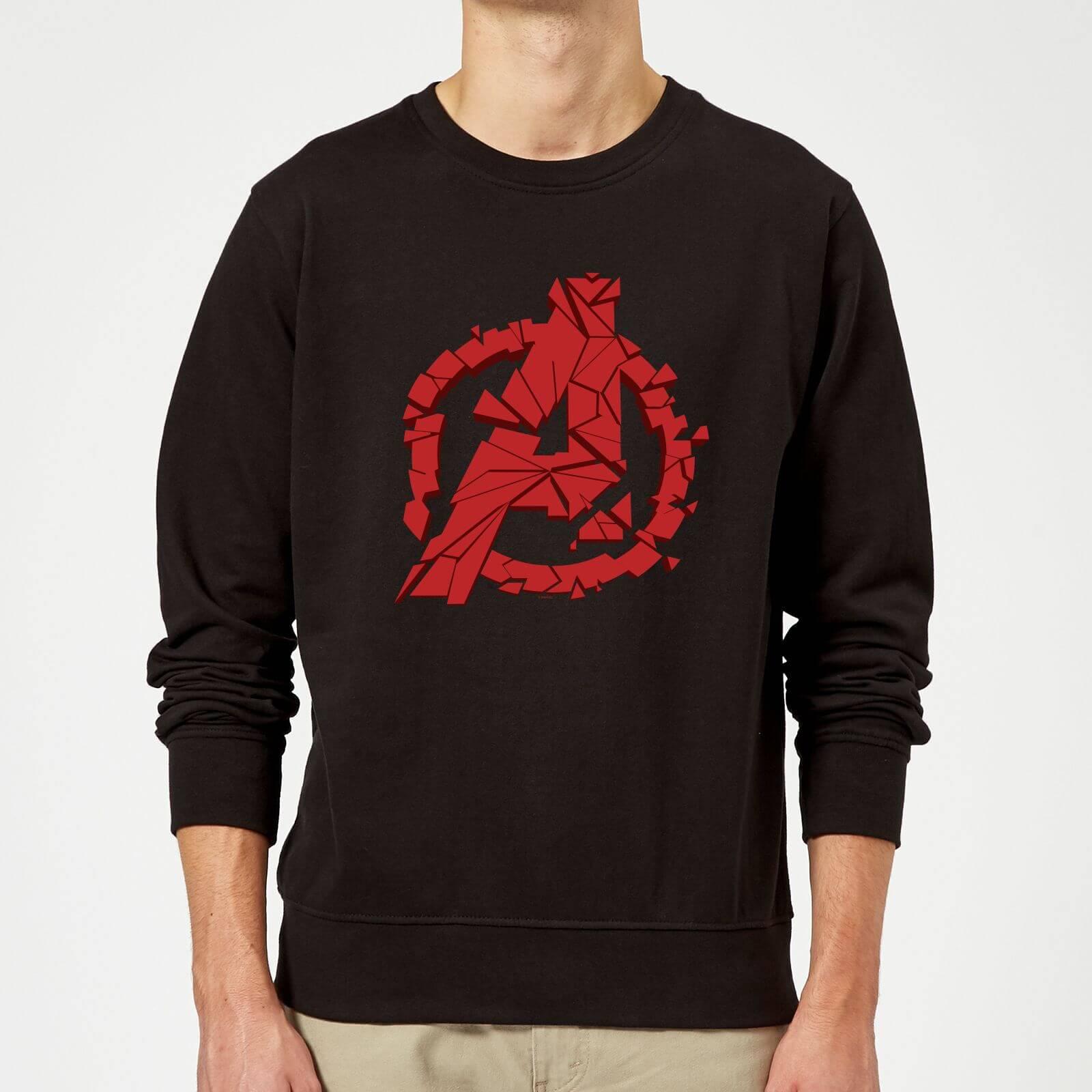 Marvel Avengers Endgame Shattered Logo Sweatshirt - Black - M - Black