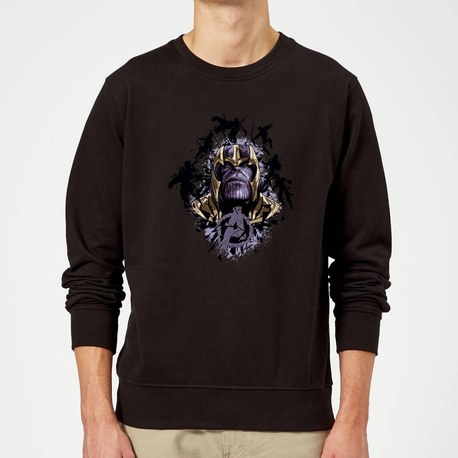 Avengers Endgame Warlord Thanos Sweatshirt - Schwarz - 5XL - Schwarz