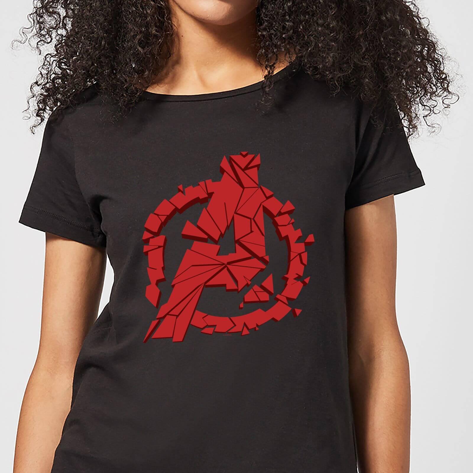 Marvel Avengers Endgame Shattered Logo Women's T-Shirt - Black - L - Black