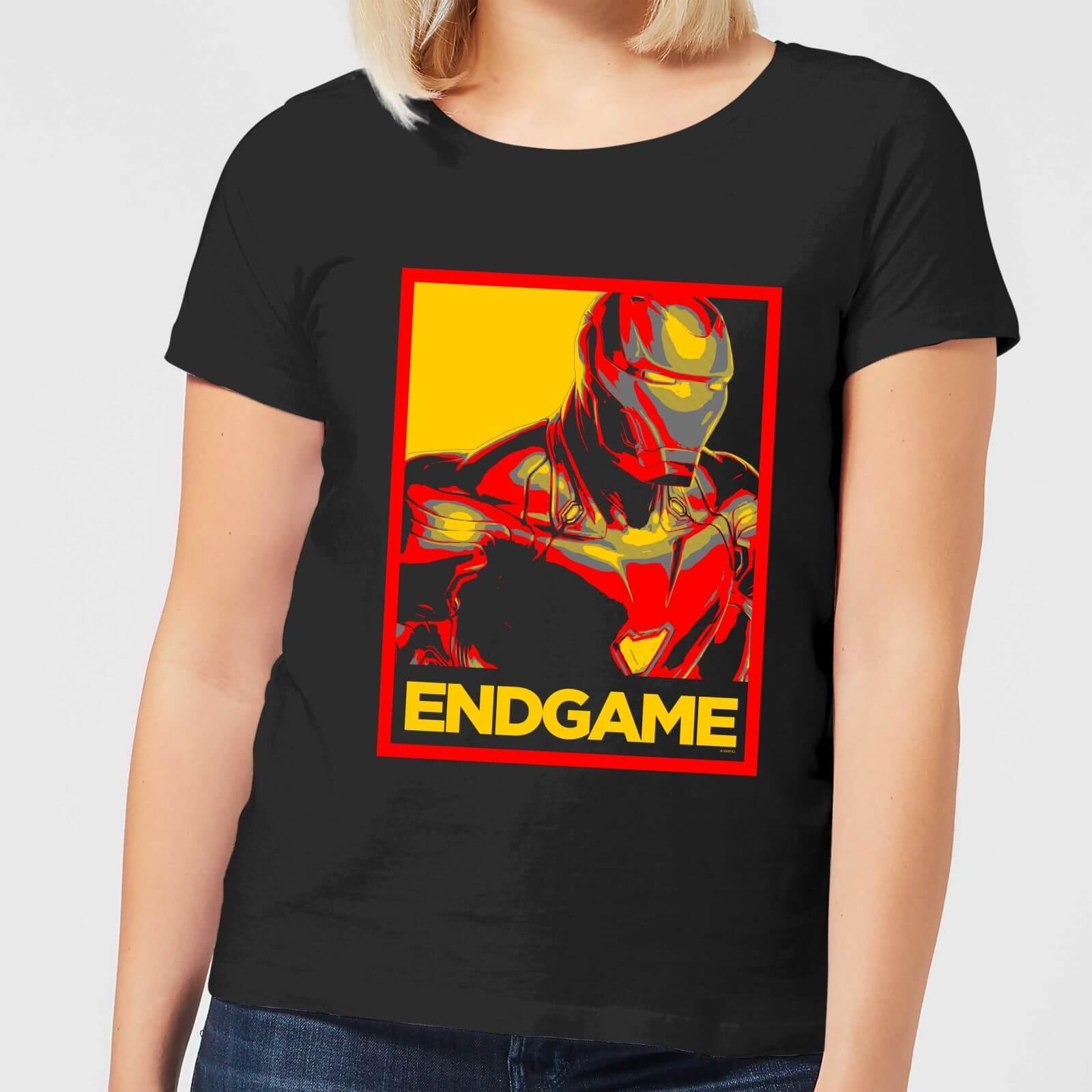Marvel Avengers Endgame Iron Man Poster Women's T-Shirt - Black - XXL - Black