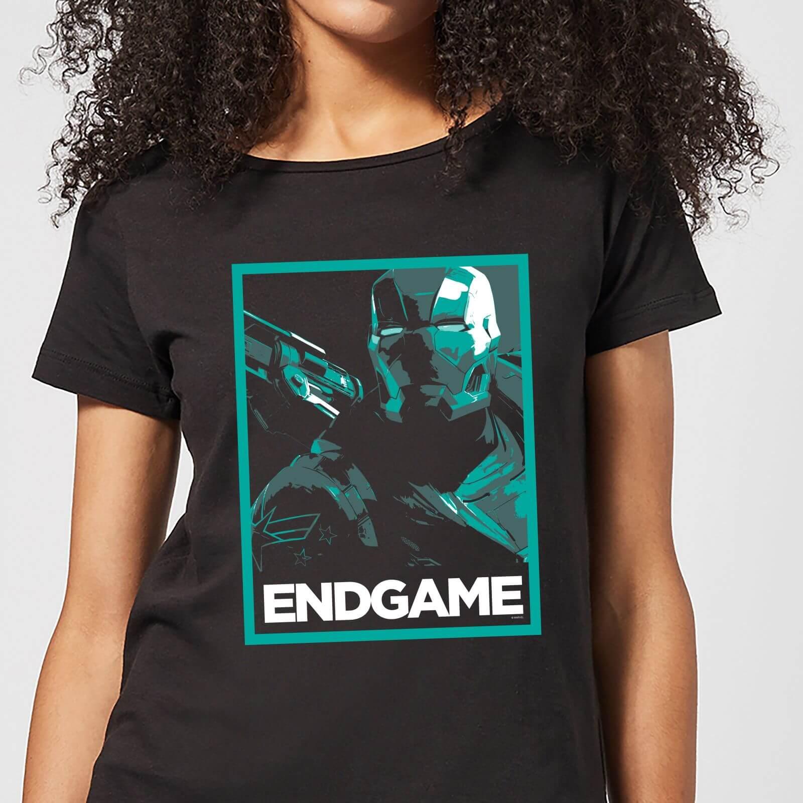 Marvel Avengers Endgame War Machine Poster Women's T-Shirt - Black - M - Black