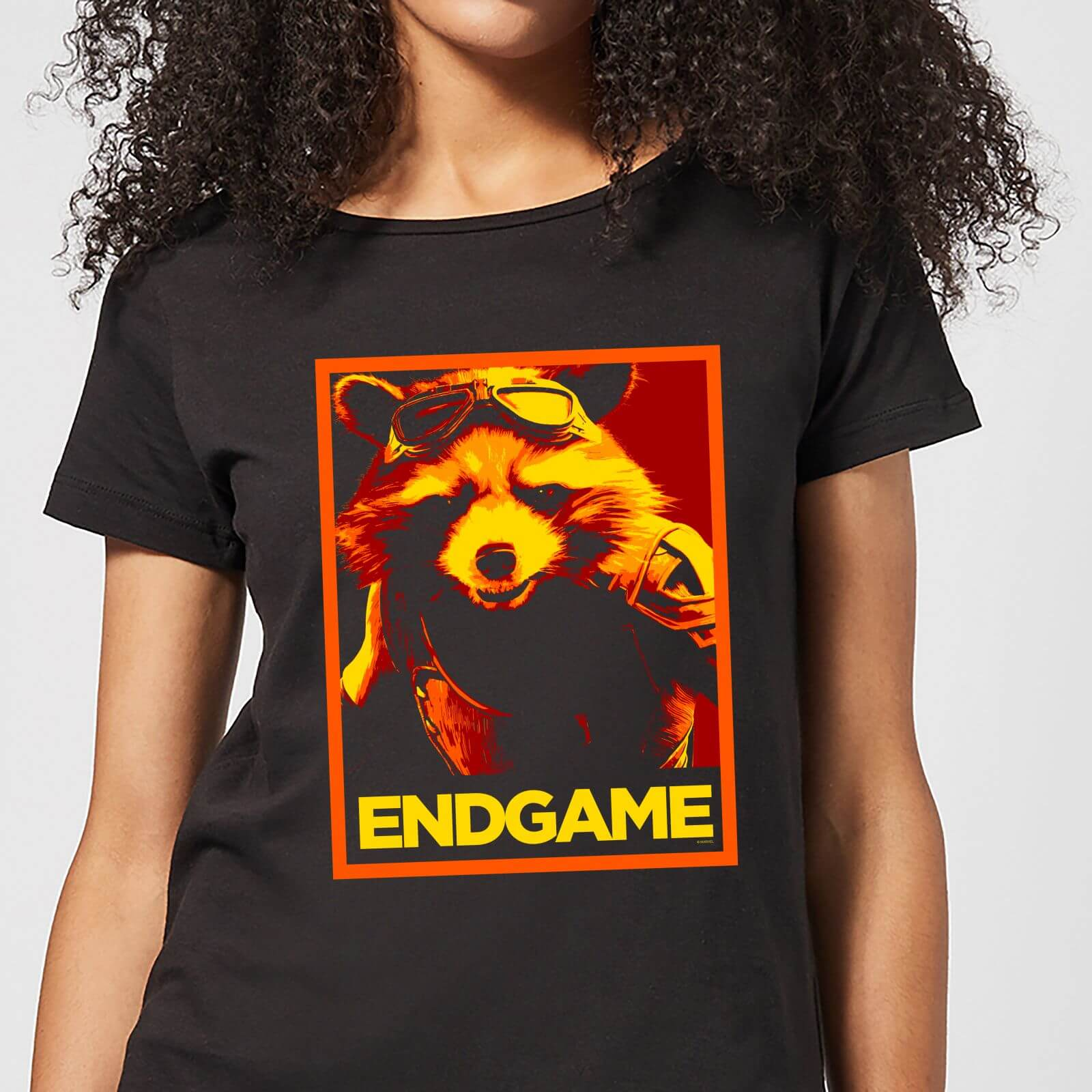 Marvel Avengers Endgame Rocket Poster Women's T-Shirt - Black - XL - Black