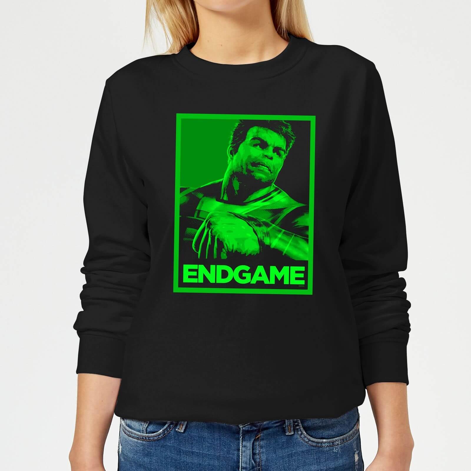Marvel Avengers Endgame Hulk Poster Women's Sweatshirt - Black - 5XL - Black