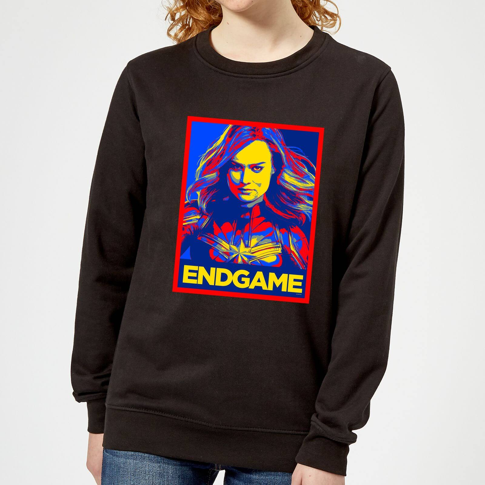 Marvel Avengers Endgame Captain Marvel Poster Women's Sweatshirt - Black - M - Black