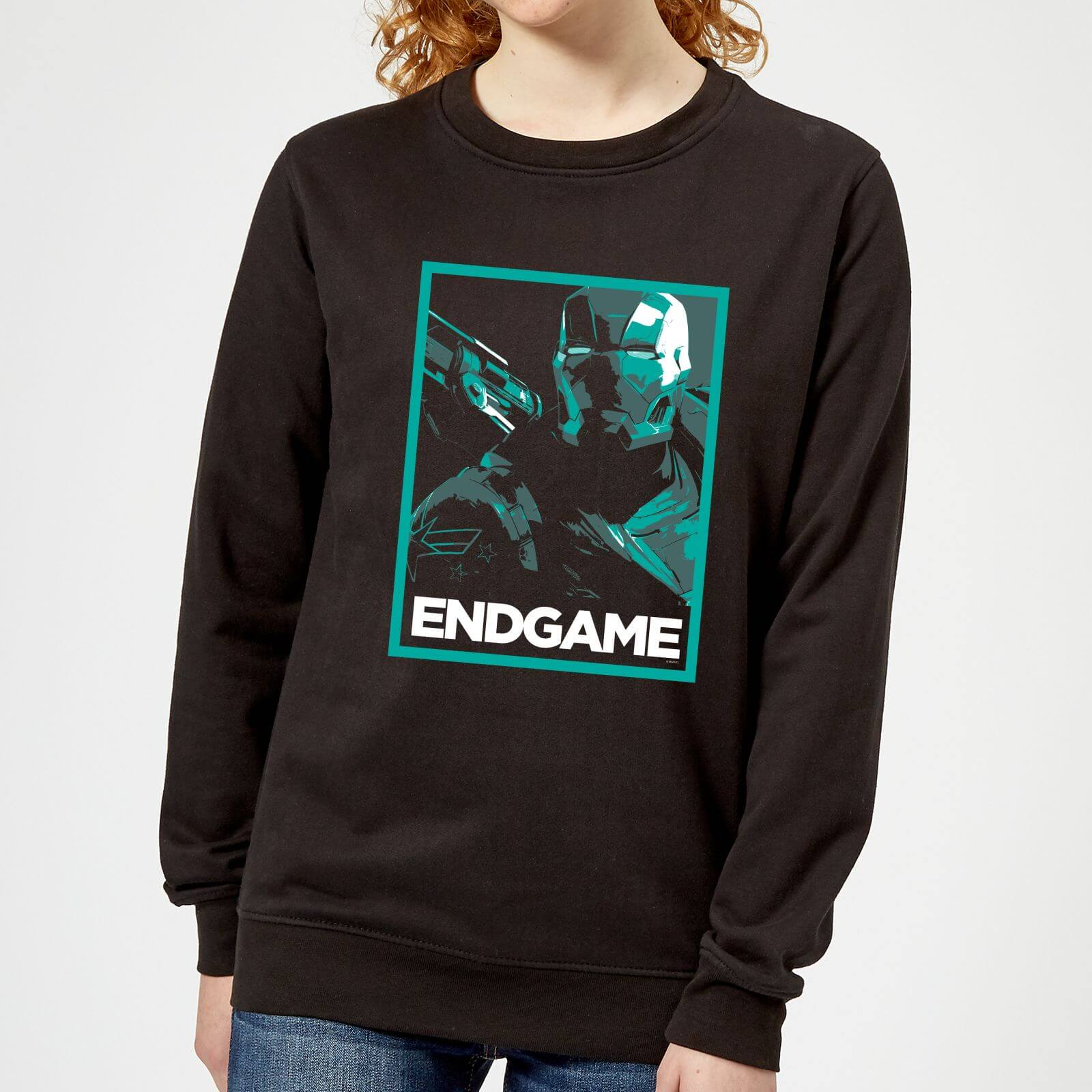 Marvel Avengers Endgame War Machine Poster Women's Sweatshirt - Black - XL - Black