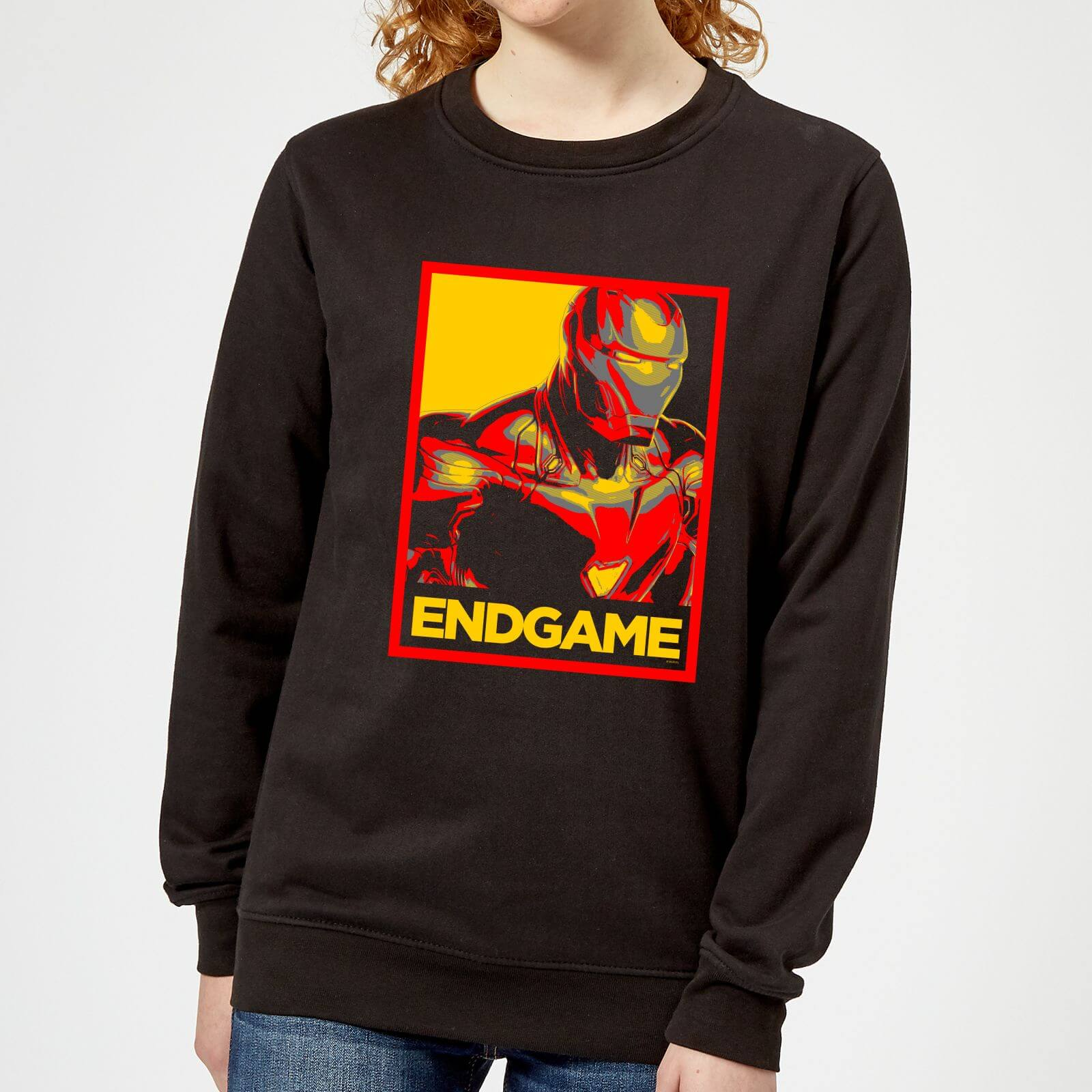 Marvel Avengers Endgame Iron Man Poster Women's Sweatshirt - Black - XXL - Black