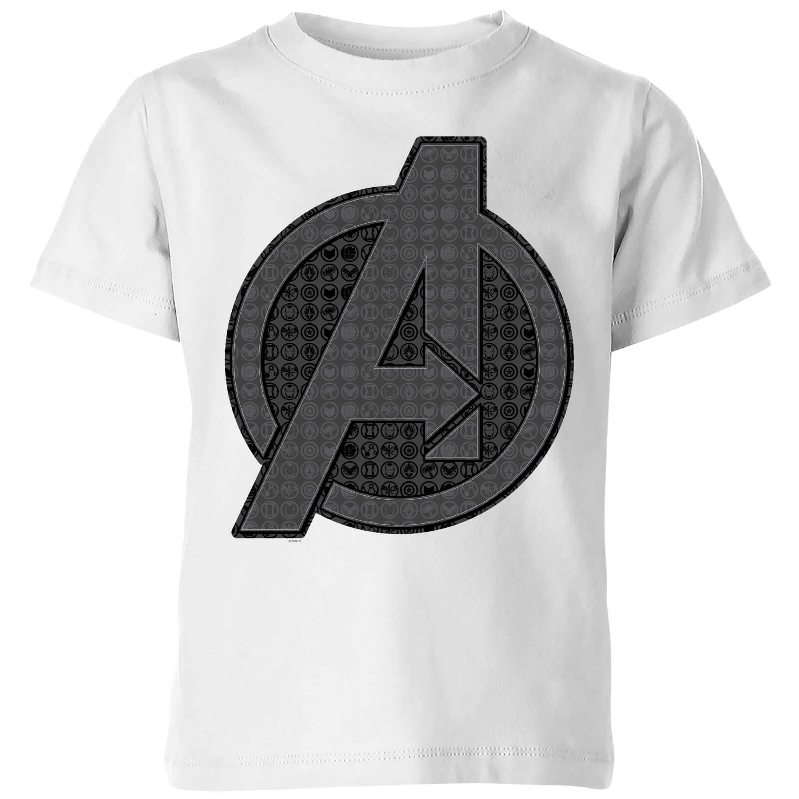 Avengers Endgame Iconic Logo Kids' T-Shirt - White - 3-4 Years - White