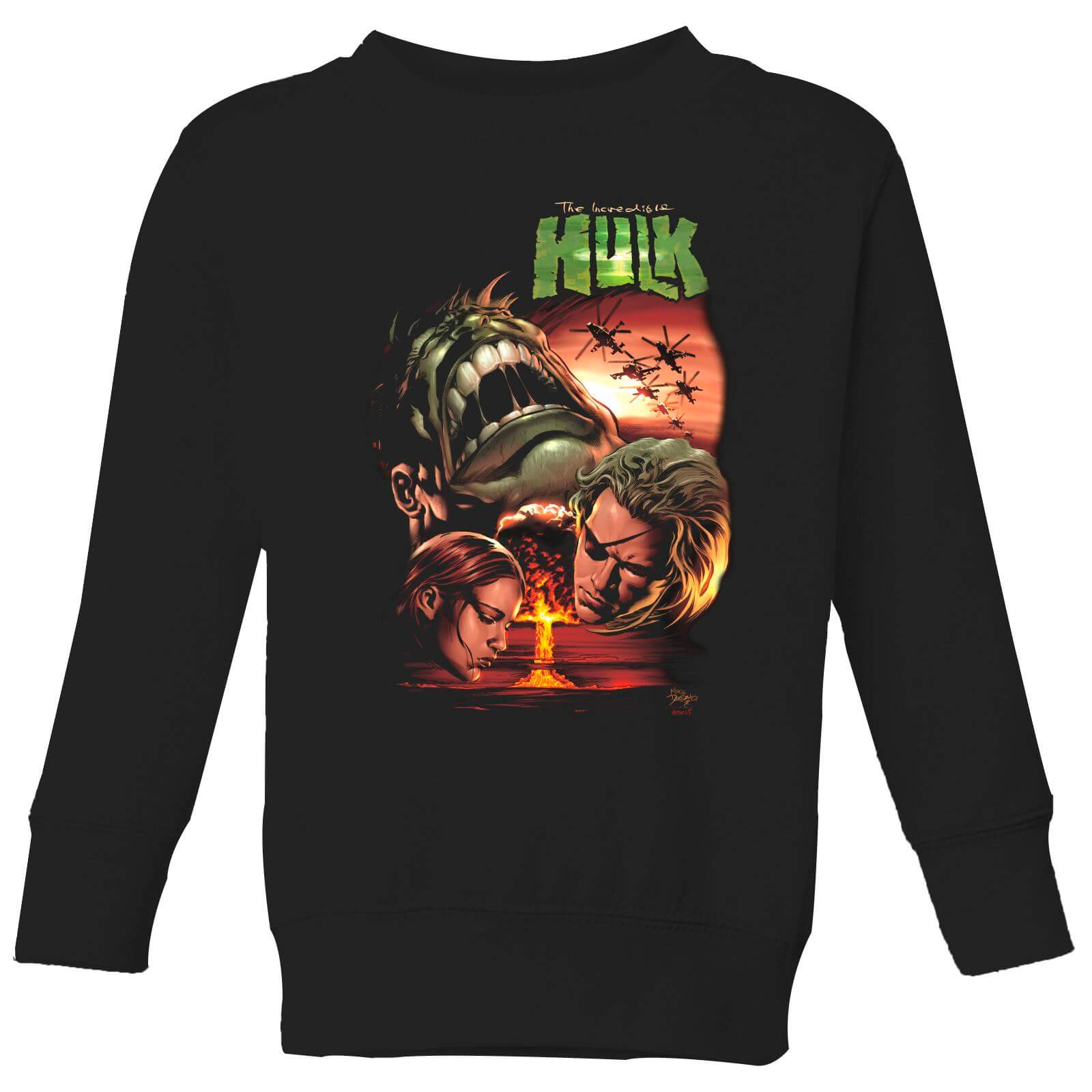 Marvel Incredible Hulk Dead Like Me Kids' Sweatshirt - Black - 5-6 Years - Black