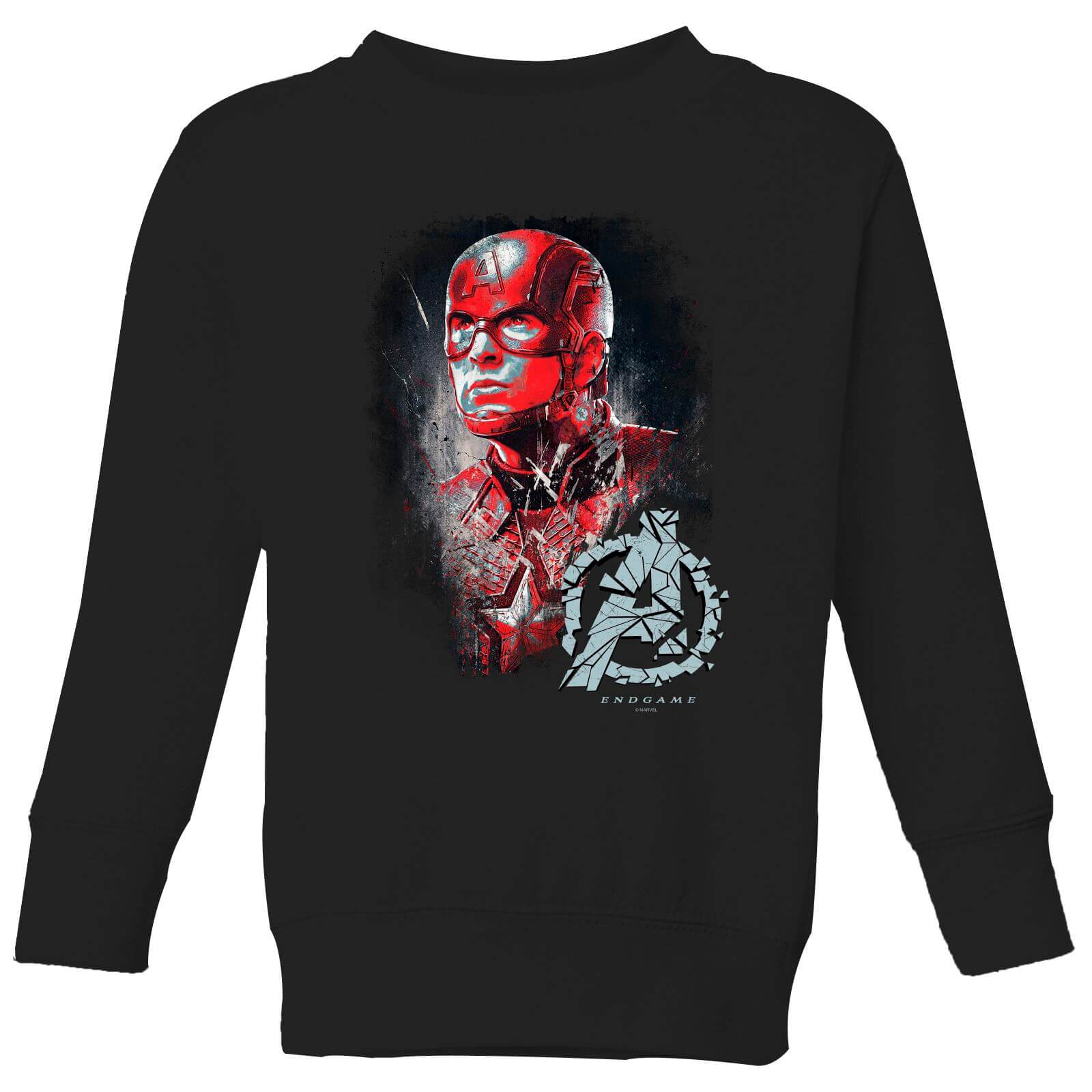 Avengers Endgame Captain America Brushed Kids' Sweatshirt - Black - 5-6 Years - Black