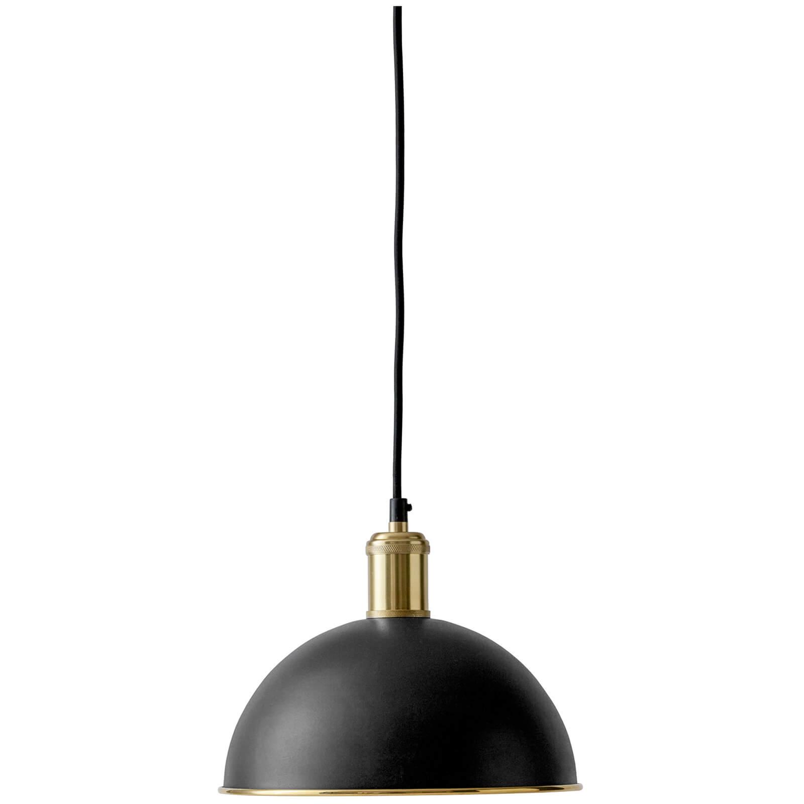 Menu Hubert Pendant - Black Bronzed Brass - 24cm