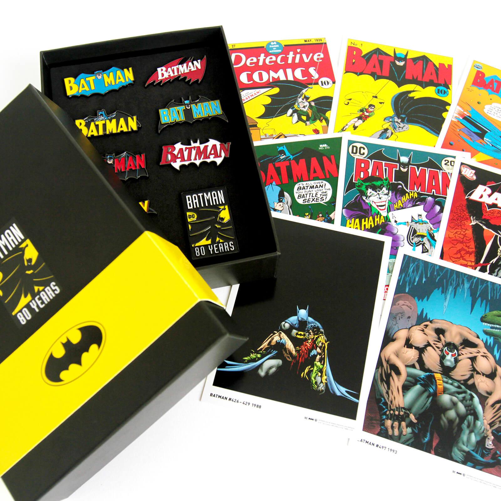 Batman 80. Jubiläum Pin Badge & Art Karten Set