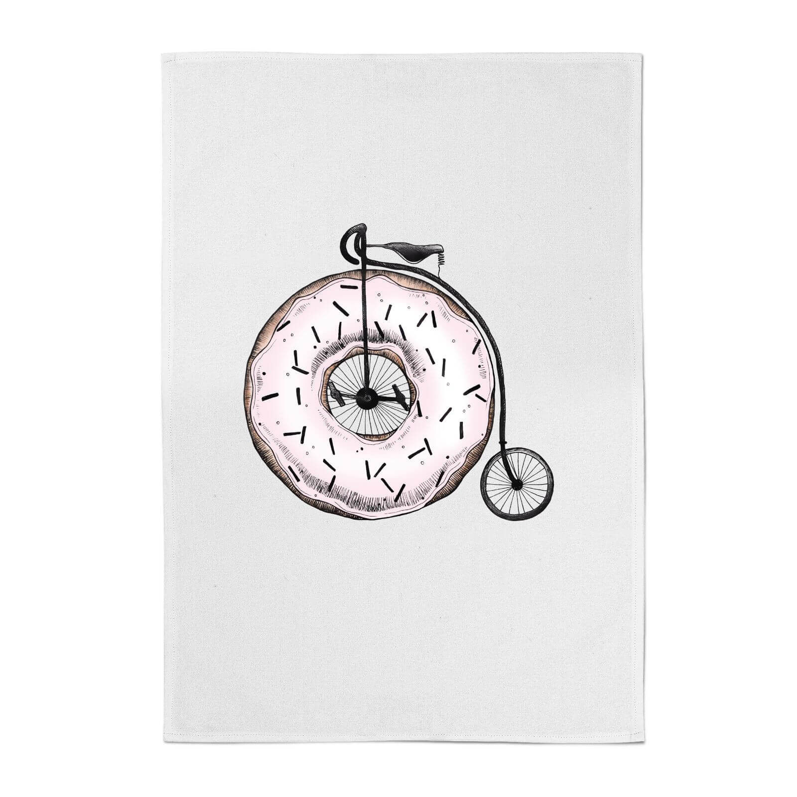 Barlena Donut Ride My Bicycle Cotton Tea Towel