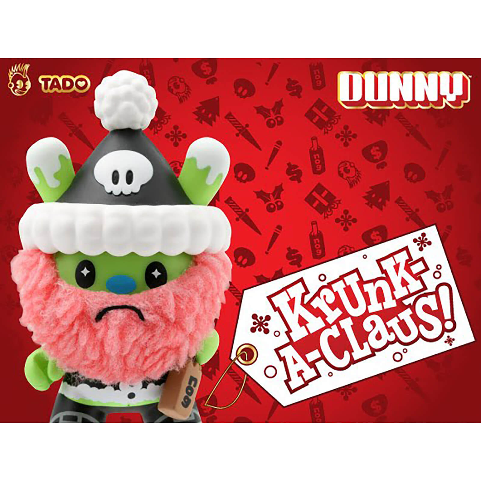 Image of Kidrobot Krunk-a-Claus DUNNY 3 Inch Vinyl