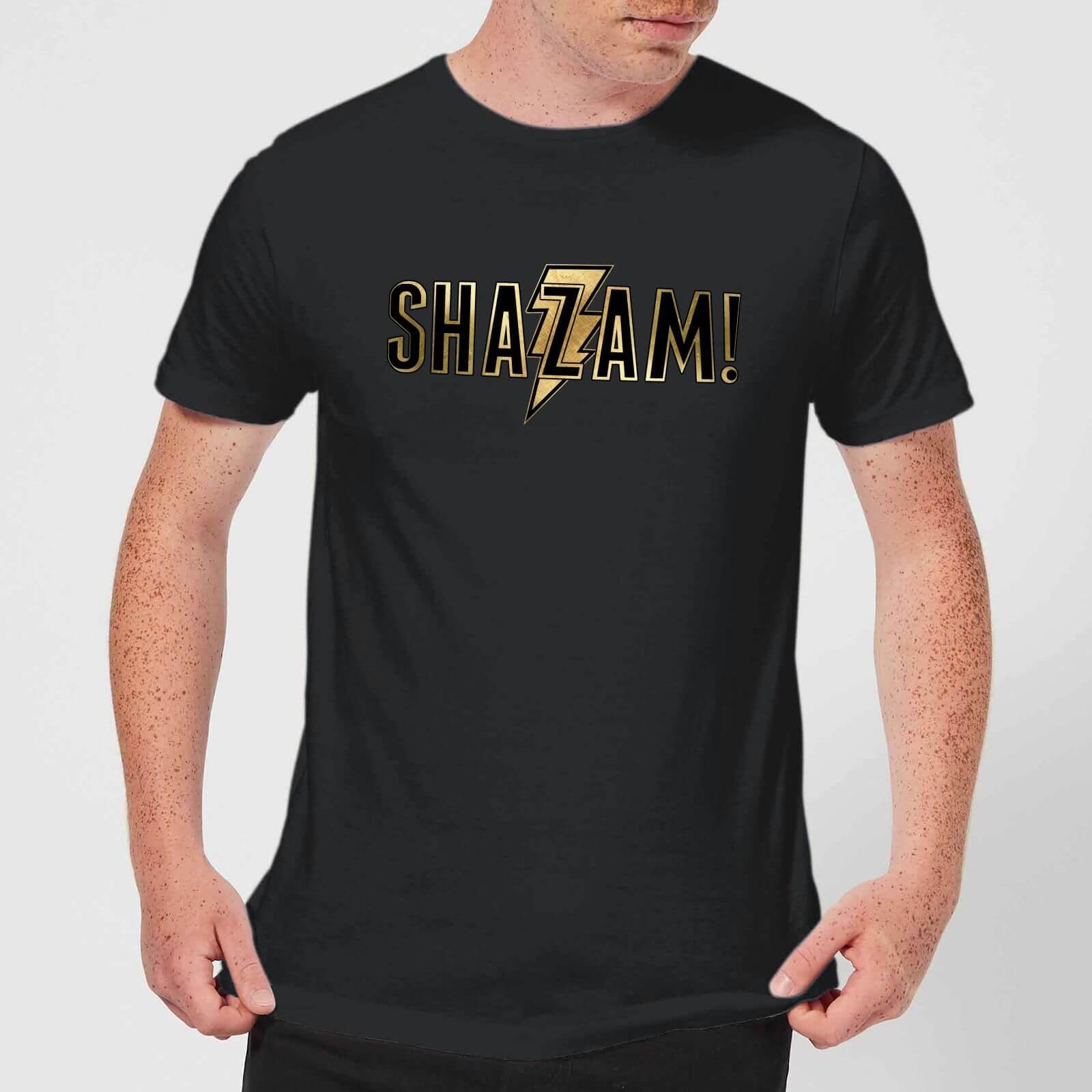 Shazam Gold Logo Men's T-Shirt - Black - XXL - Schwarz