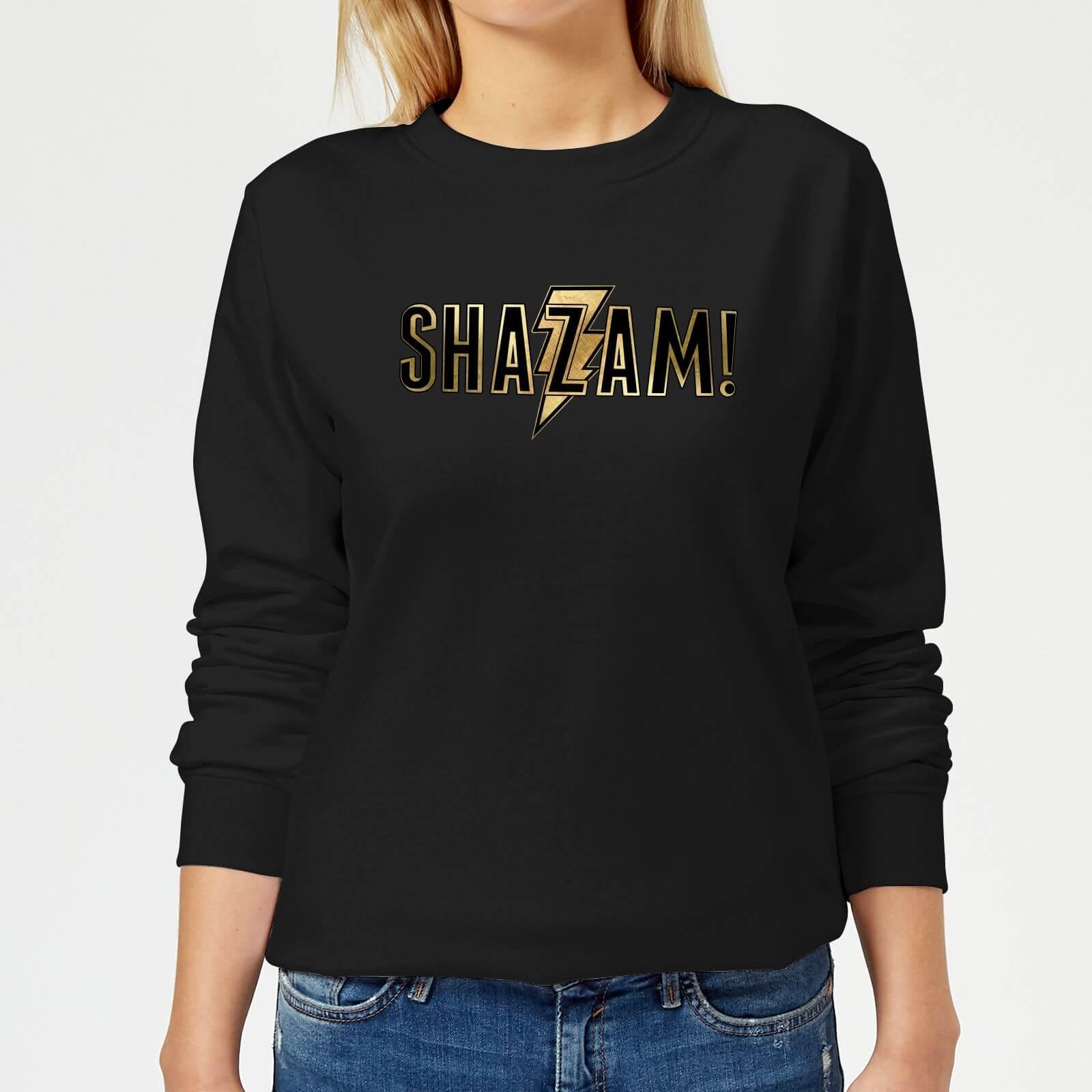 Shazam Gold Logo Women's Sweatshirt - Black - S - Schwarz