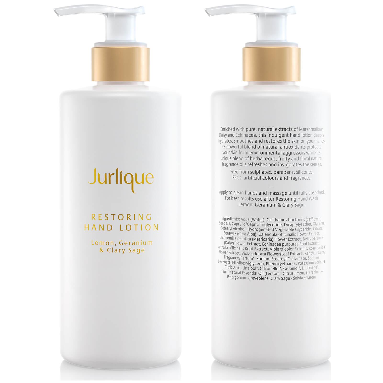 jurlique restoring lemon, geranium and clary sage hand lotion 300ml