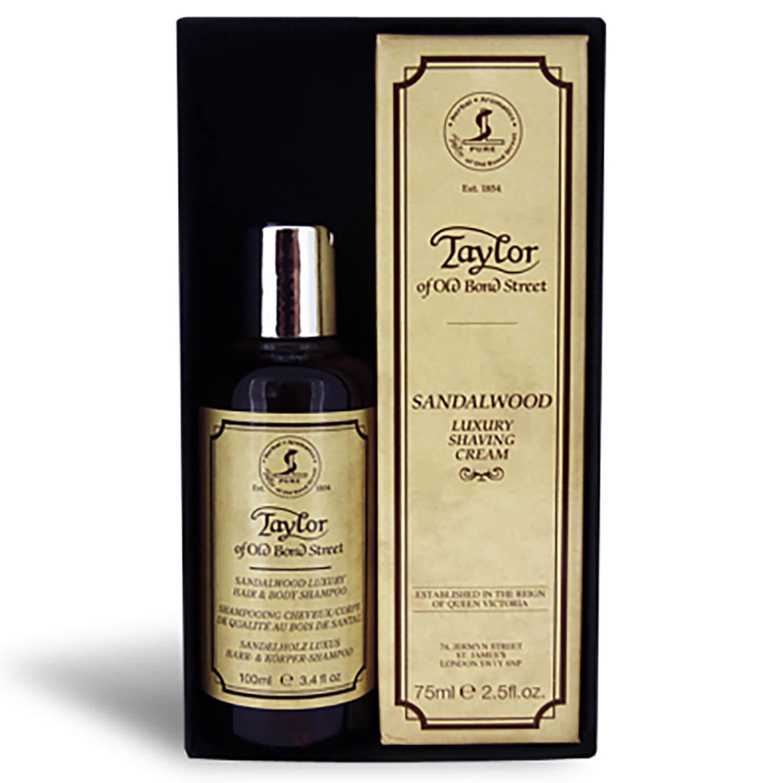 Купить Taylor of Old Bond Street Sandalwood Hair & Body Shampoo 100ml And Shaving Cream Tube 75ml