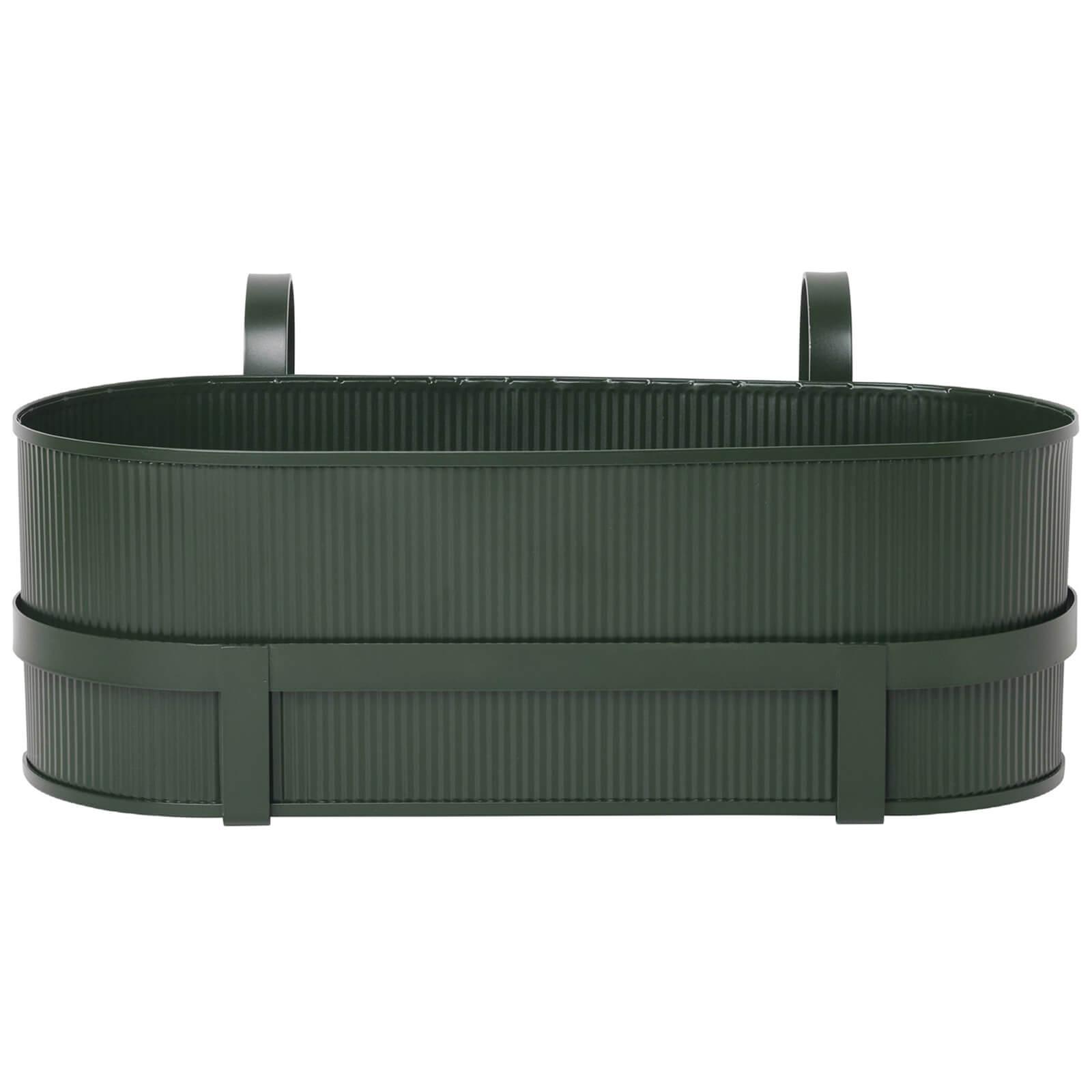 Ferm Living Bau Balcony Pot - Dark Green