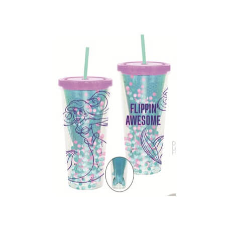 Image of Funko Homeware Disney The Little Mermaid Flippin' Awesome Cup with Straw