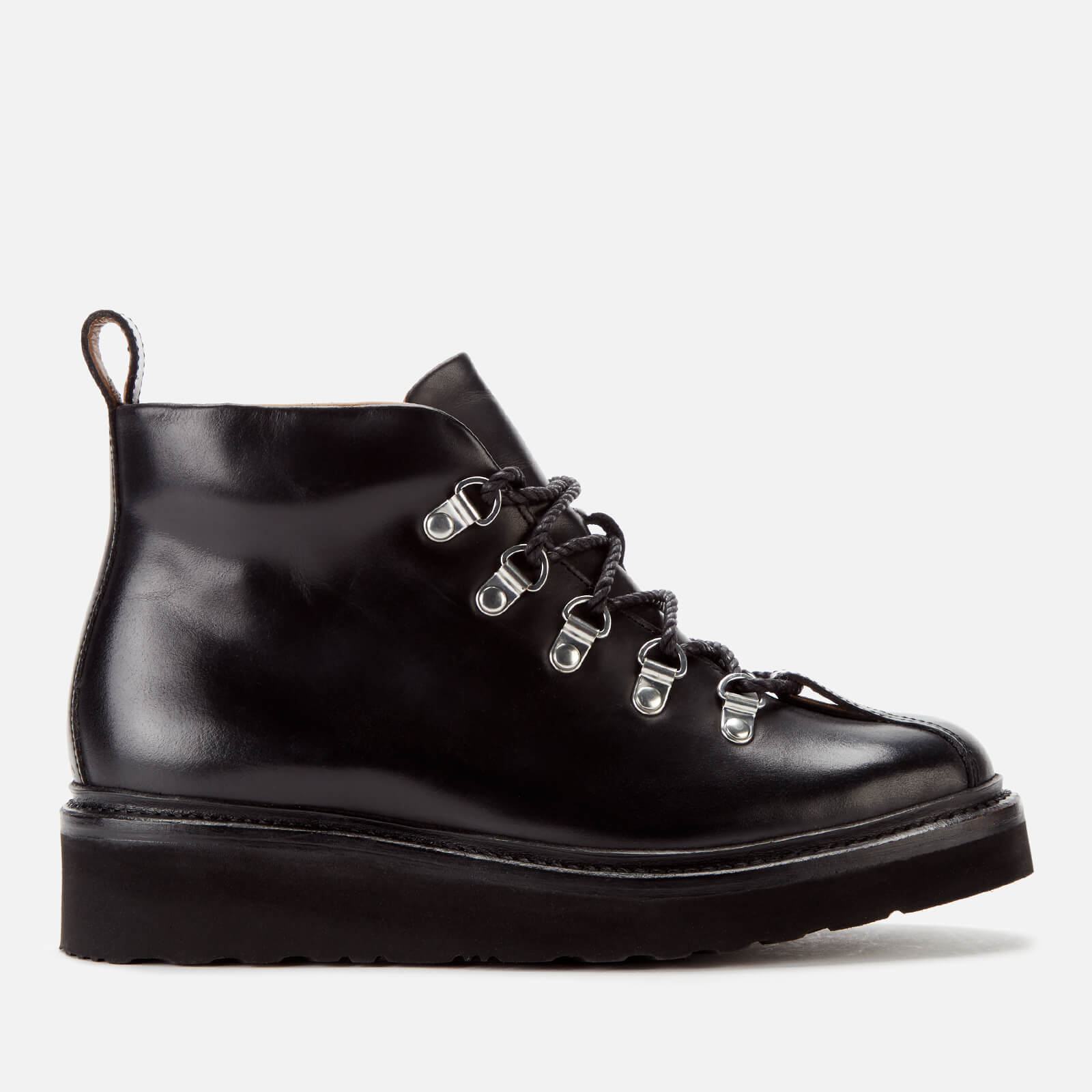 Grenson Women's Bridget Leather Hiking Style Boots - Black - Uk 3 - Black