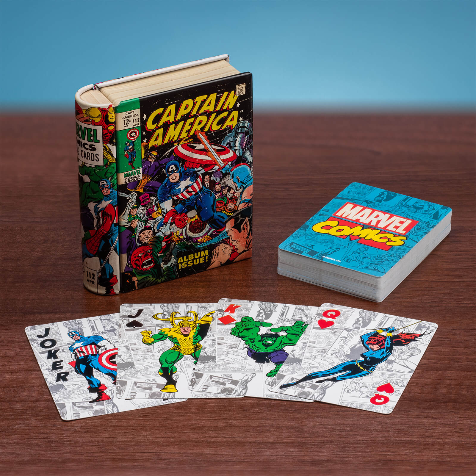 Image of Marvel Comic Book Playing Cards