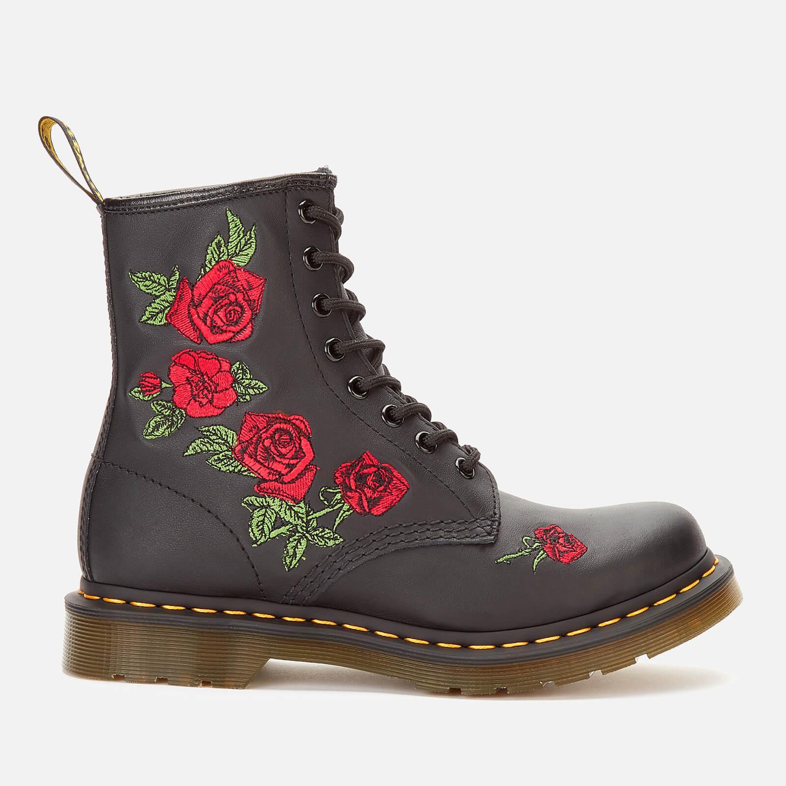 Dr. Martens Women's 1460 Vonda Softy T Leather 8-Eye Boots - Black - UK 6