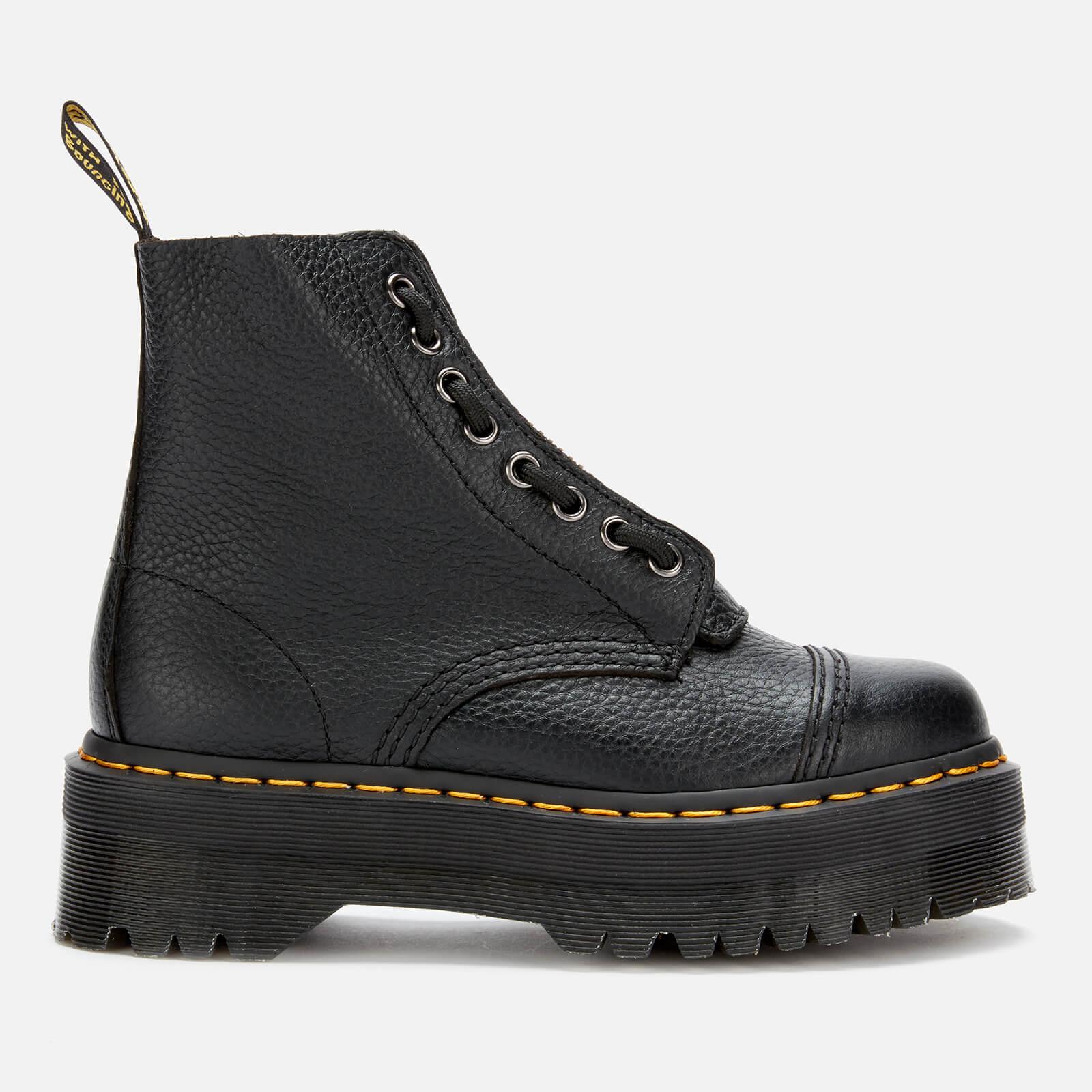 Dr. Martens Women's Sinclair Leather Zip Front Boots - Black - Uk 3 - Schwarz