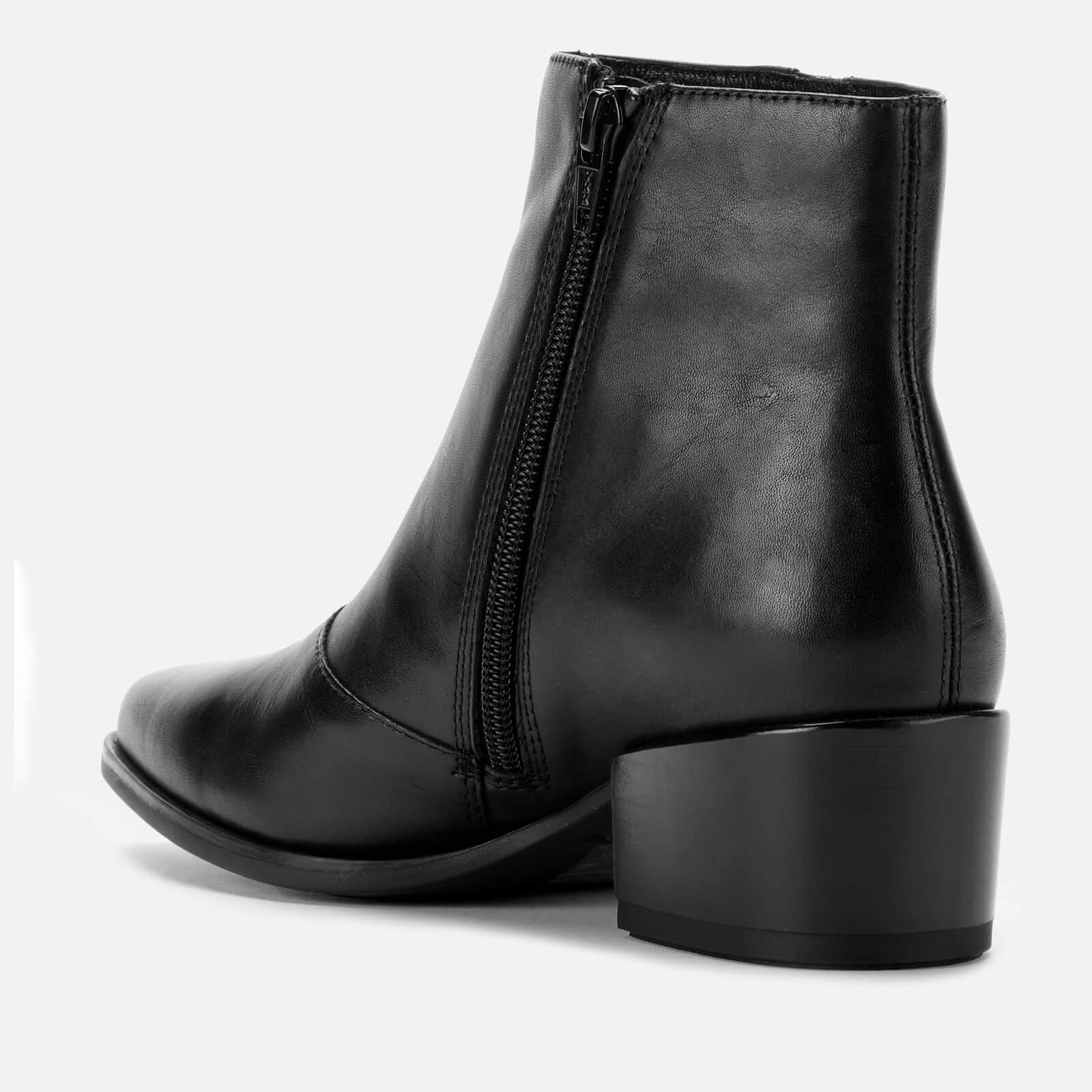 Vagabond Women's Marja Leather Heeled Ankle Boots - Black - Uk 3 - Black