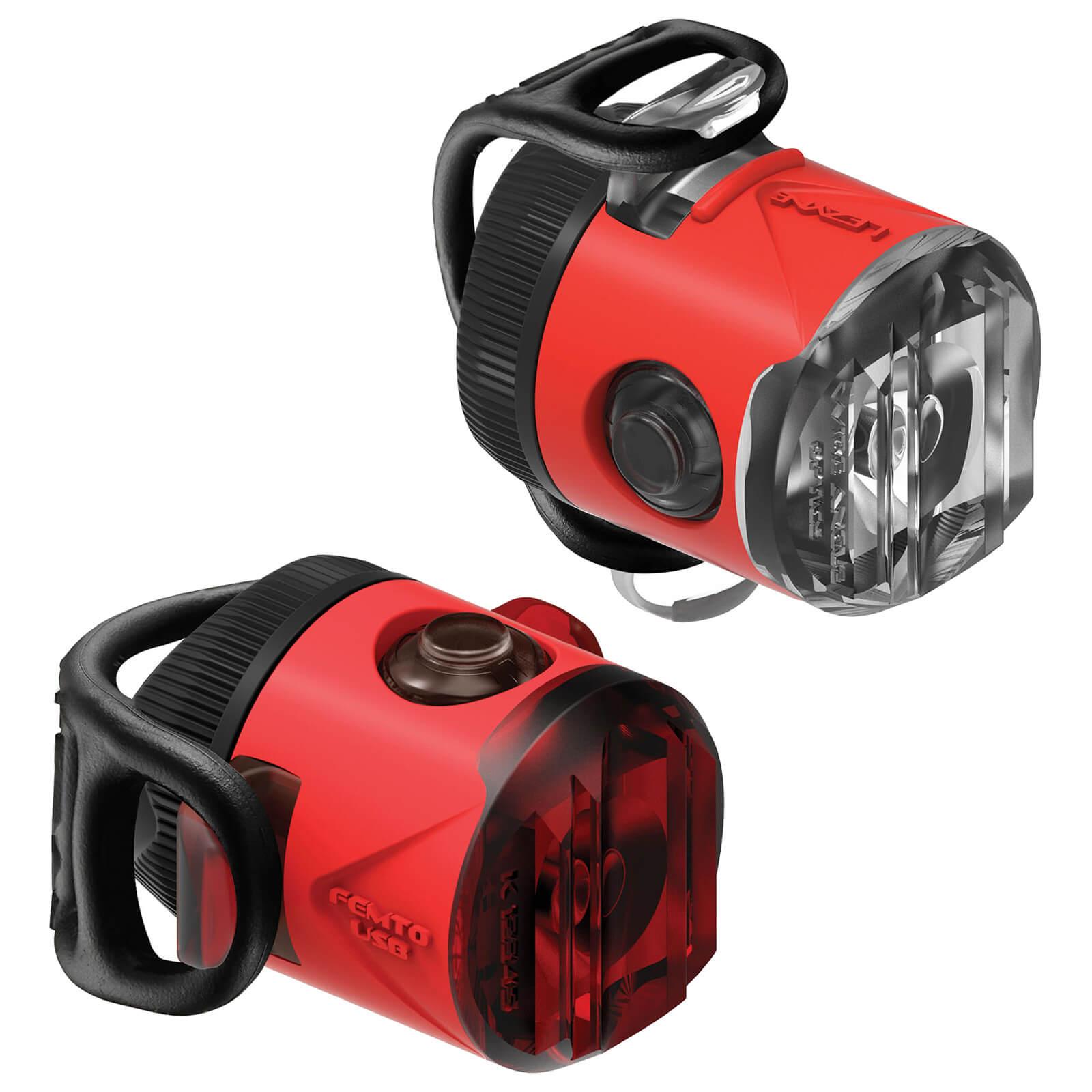 Lezyne LED Femto USB Drive Light Set - Rot